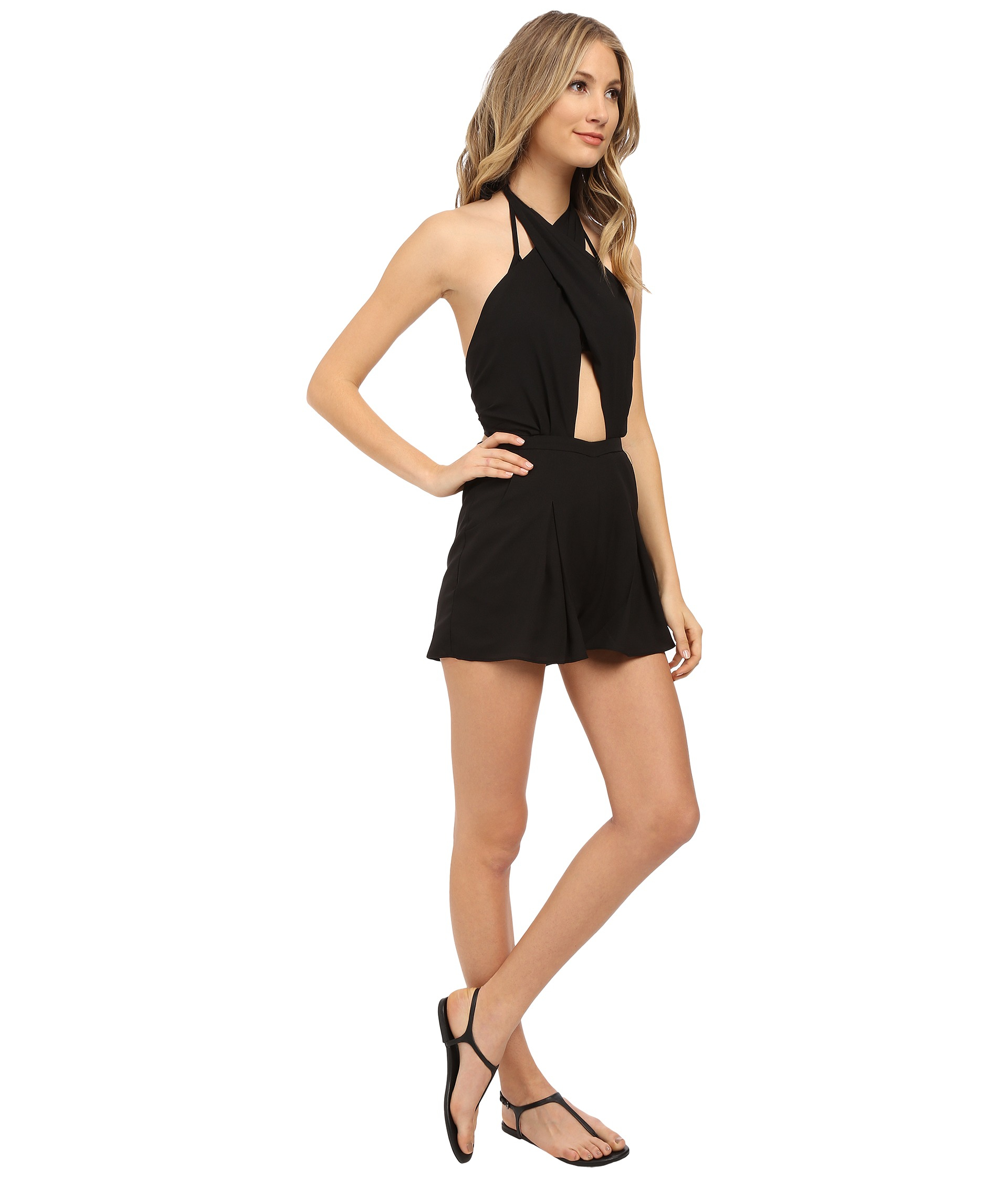 8ae15aee2ad Lyst - 6 Shore Road By Pooja Chiva Romper Cover-up in Black