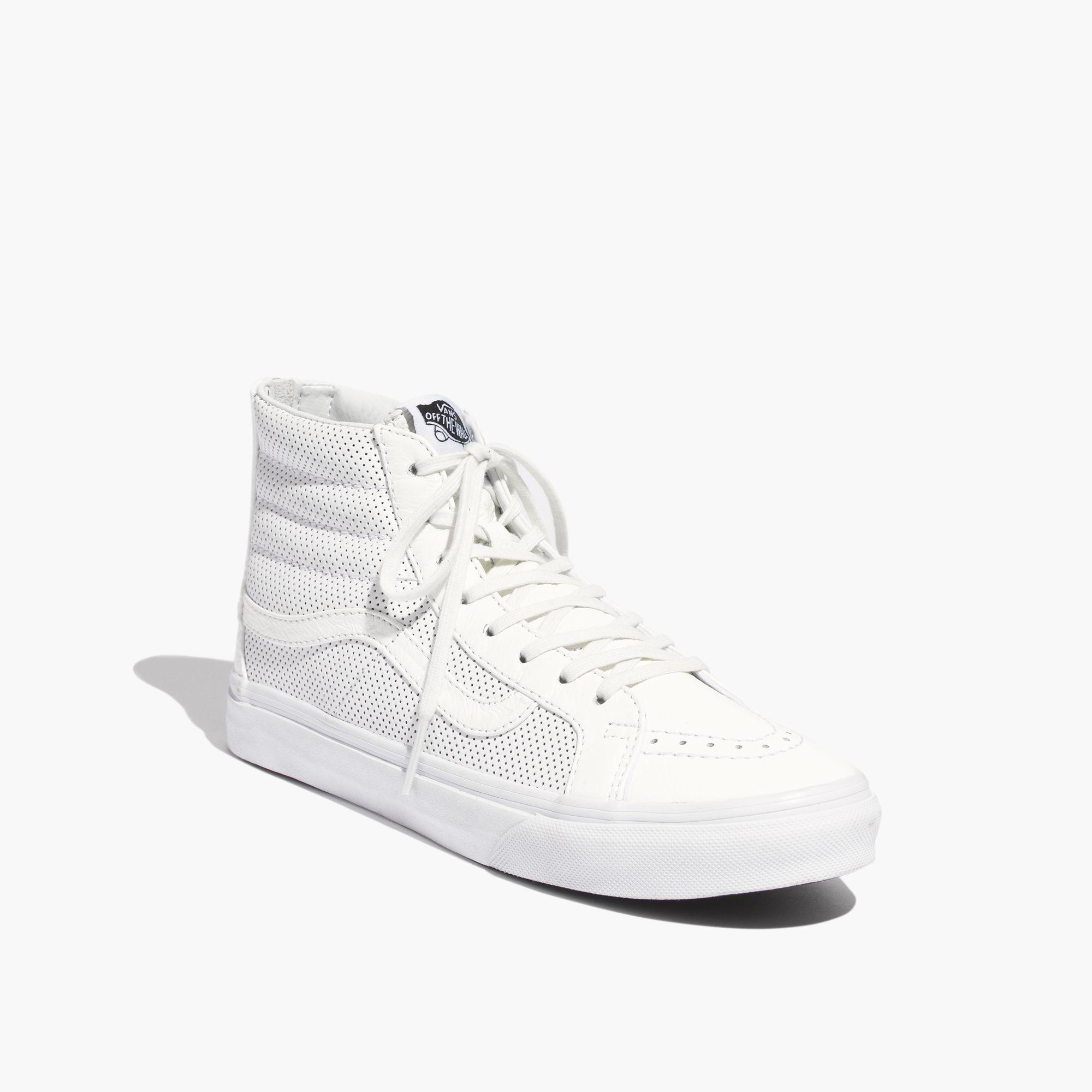 bb91f408b6d6ee Lyst - Madewell Vans® Sk8-Hi Slim Zip High-Top Sneakers In ...