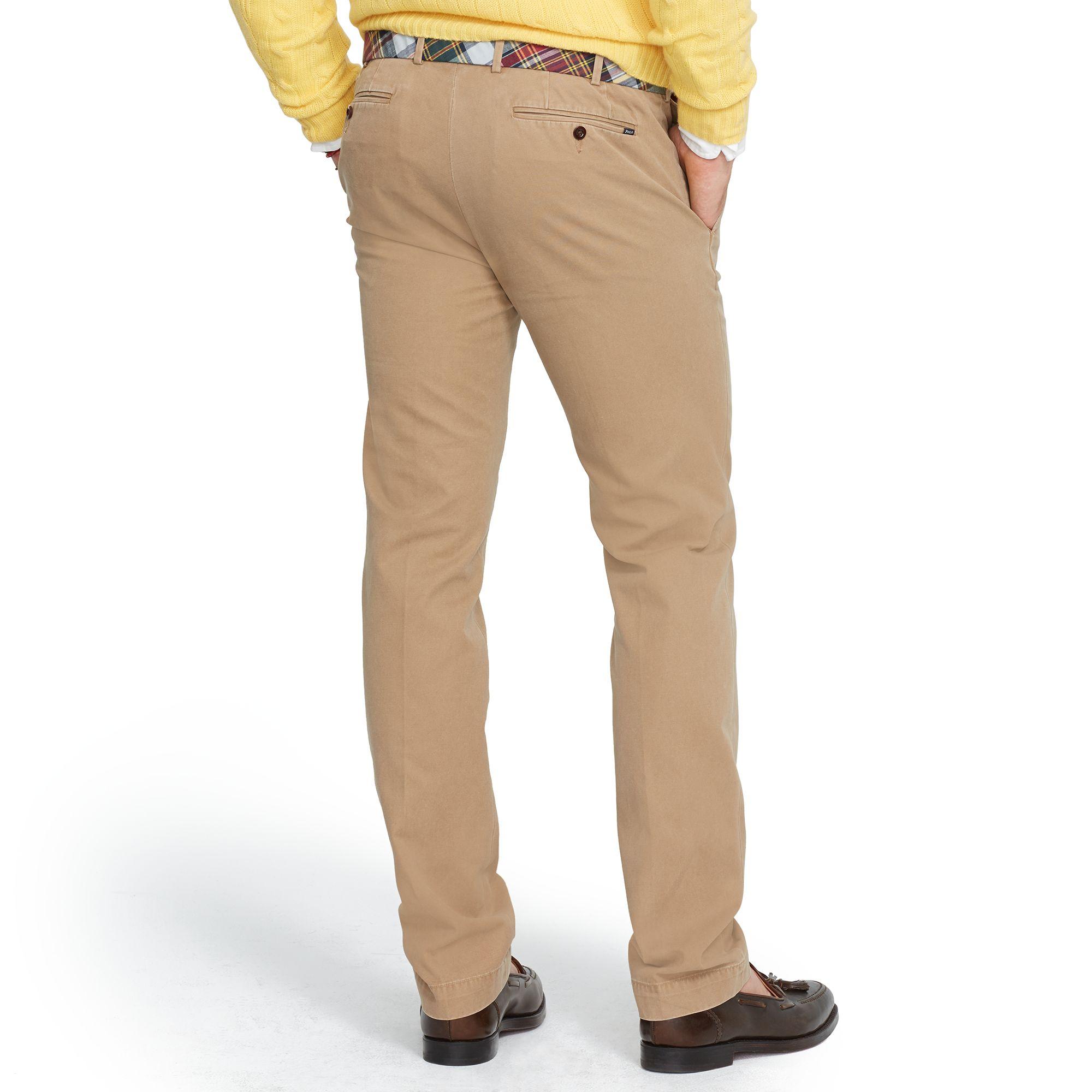 ec0f8fa7288e Polo Ralph Lauren Slim-Fit Lightweight Chino in Brown for Men - Lyst