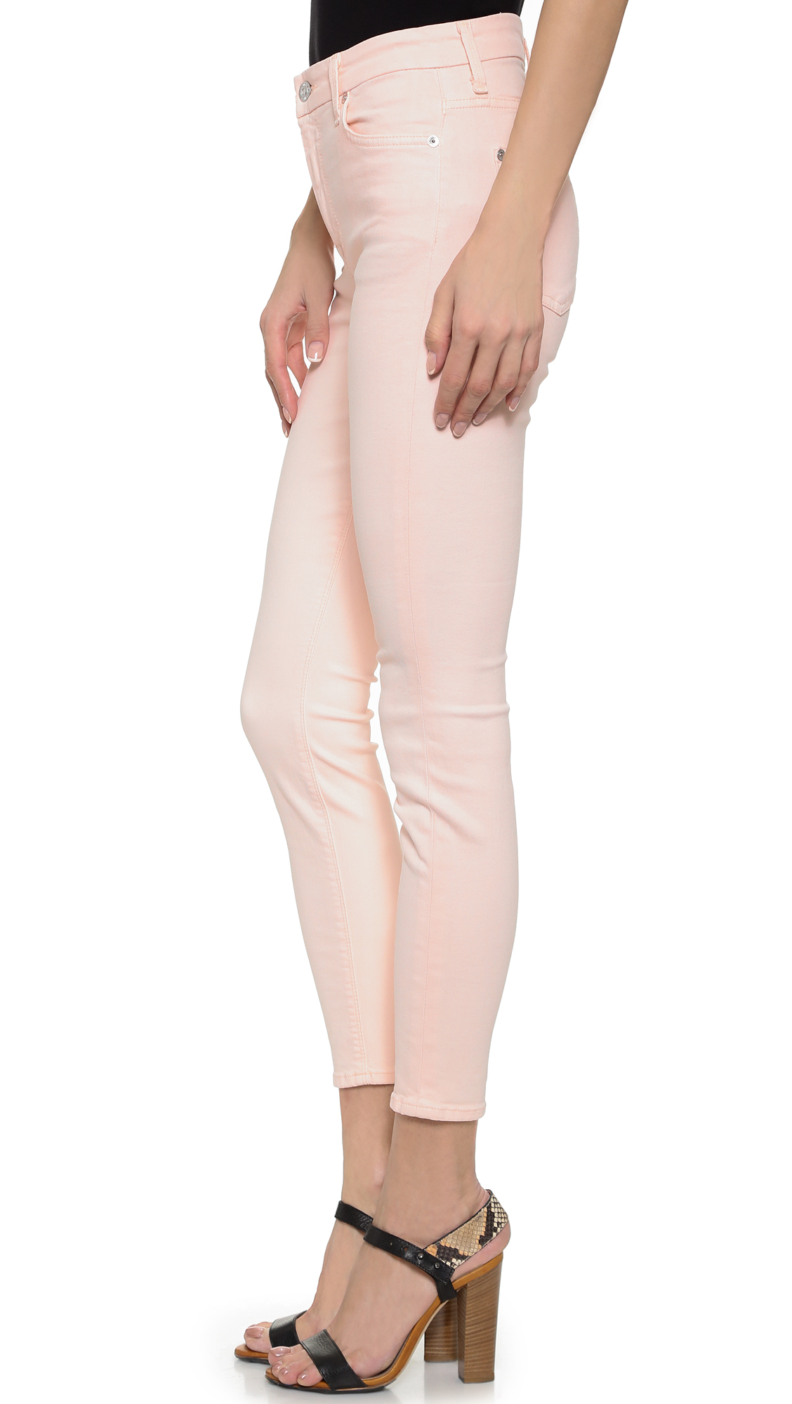 7 For All Mankind Pink Jeans | Pink Street Style Trend at ...