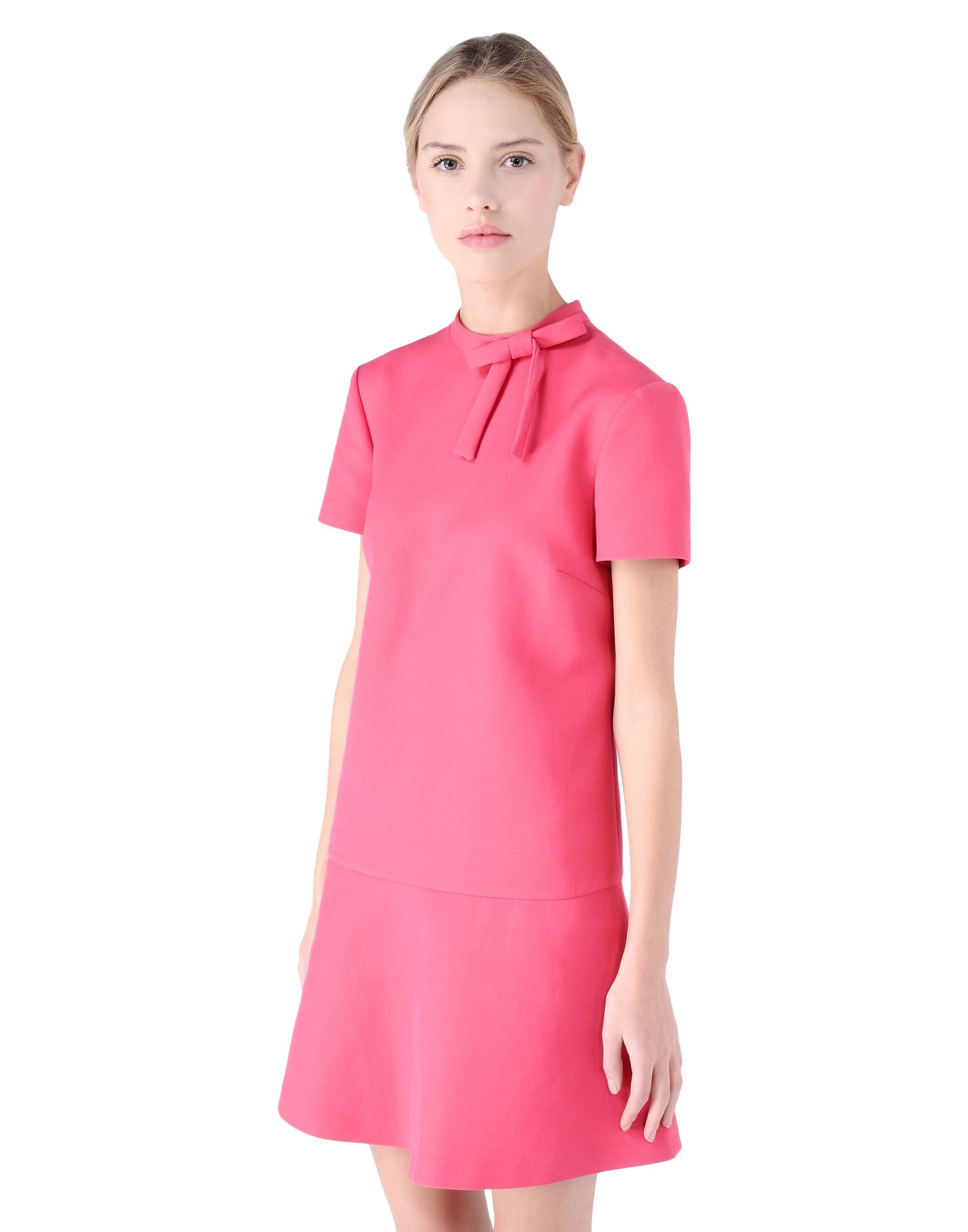 valentino cady dress with bow in purple lyst