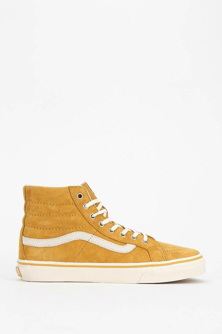 Vans Sk8Hi Scotch Suede Womens Hightop Sneaker In Gold -1096