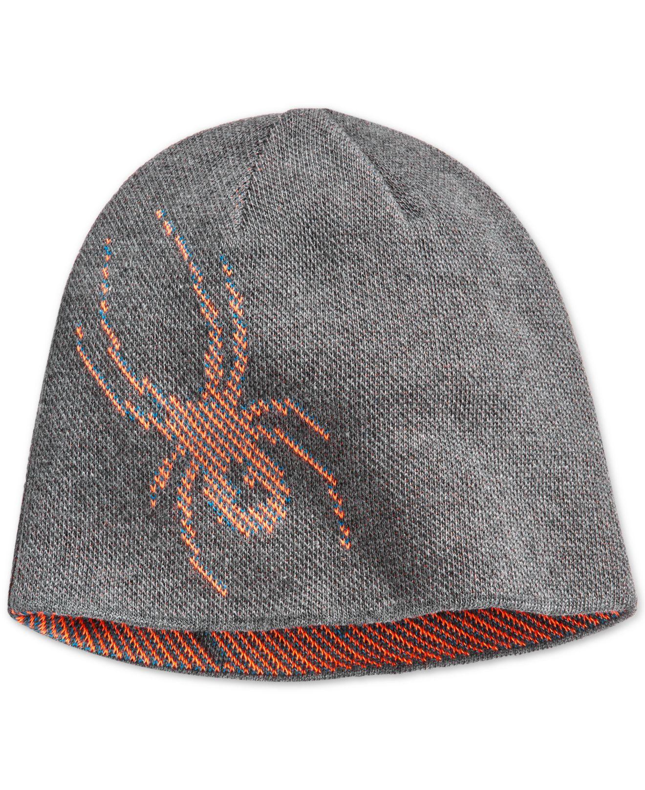 Lyst Spyder Birdseye Spider Graphic Reversible Beanie In