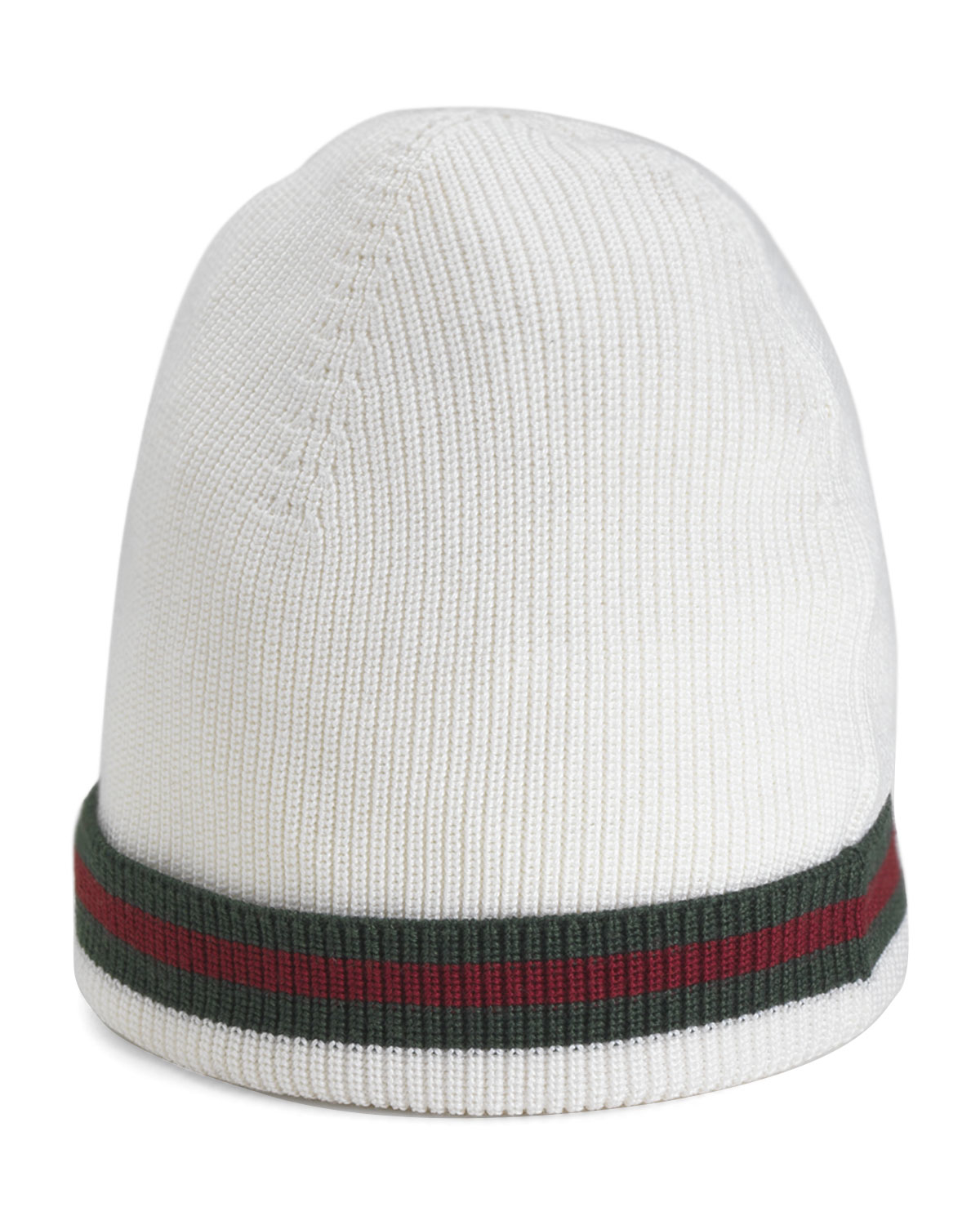 Lyst - Gucci Crook Knit Hat in White for Men 92006bdd6b3