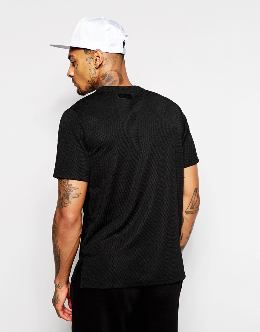 Lyst Underated Longline T Shirt With Side Splits In