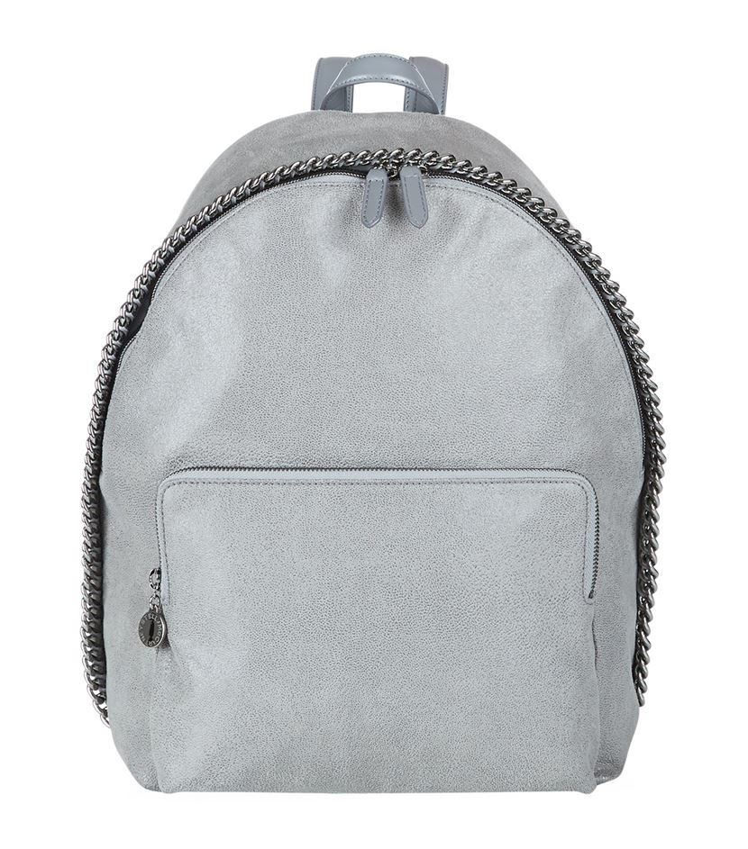 stella mccartney falabella shaggy deer small backpack in gray lyst. Black Bedroom Furniture Sets. Home Design Ideas
