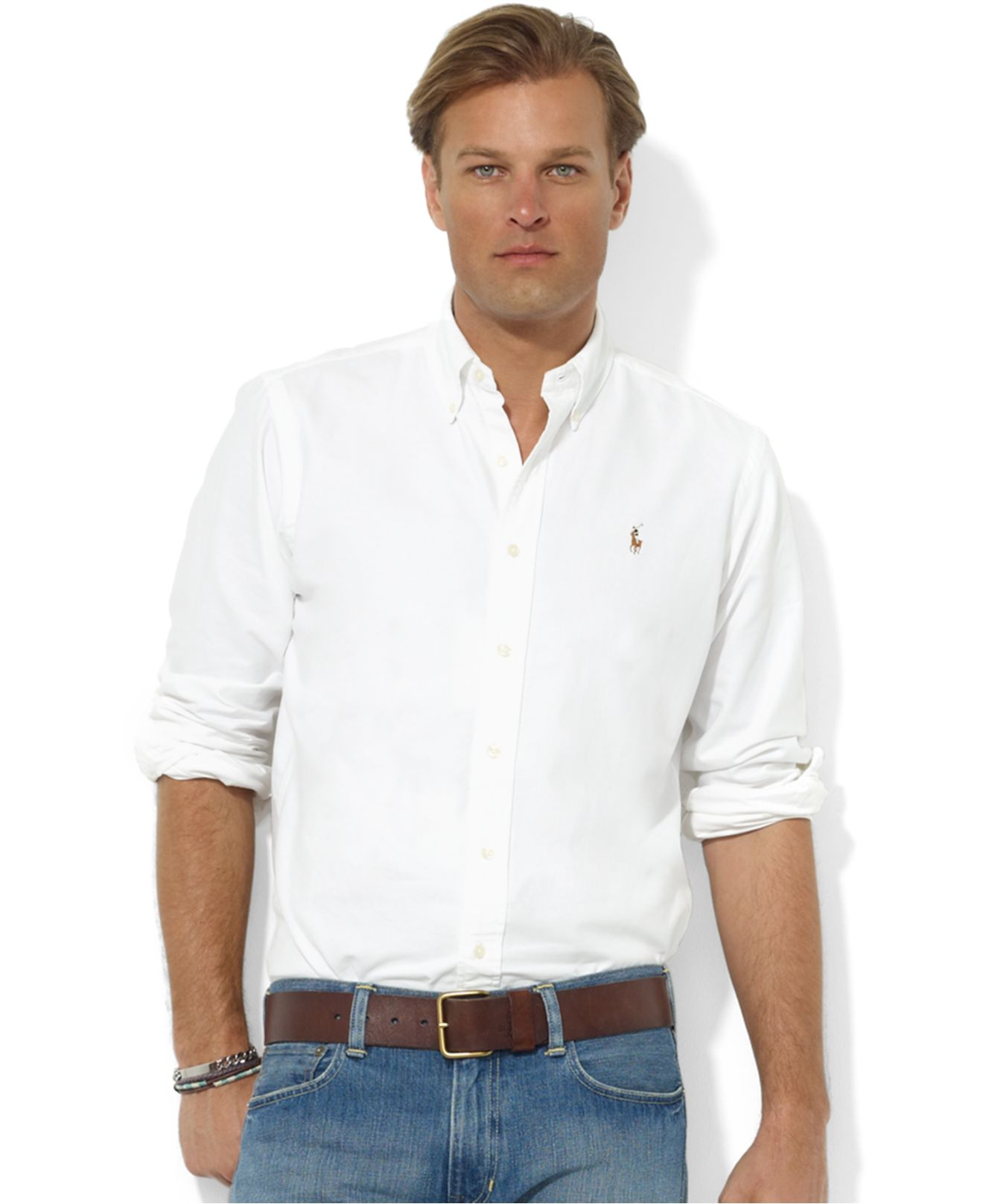 3dcb22021a Lyst - Polo Ralph Lauren Core Classic Fit Oxford Shirt in White for Men