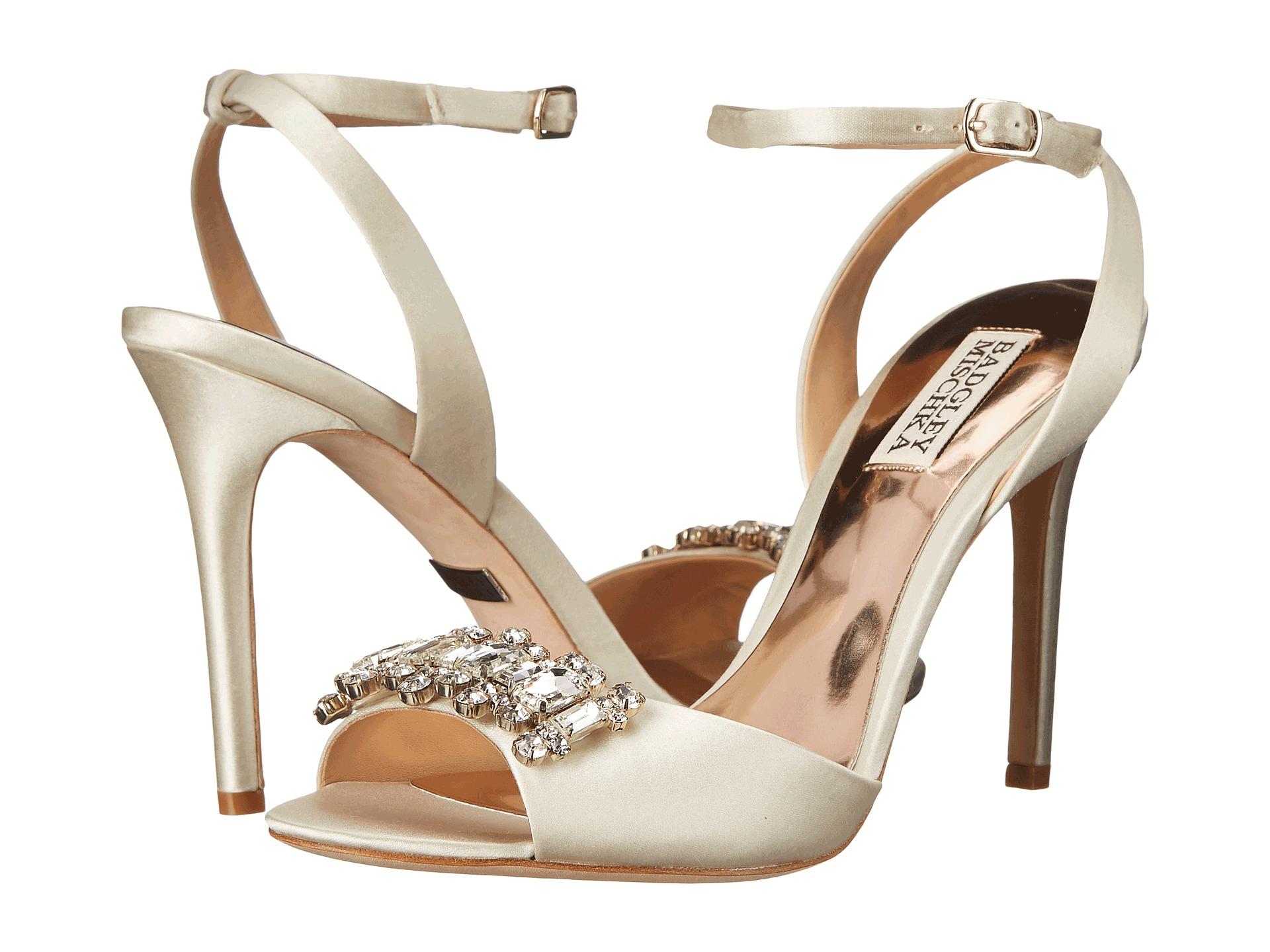 Womens Shoes Badgley Mischka Amanda Ivory Satin