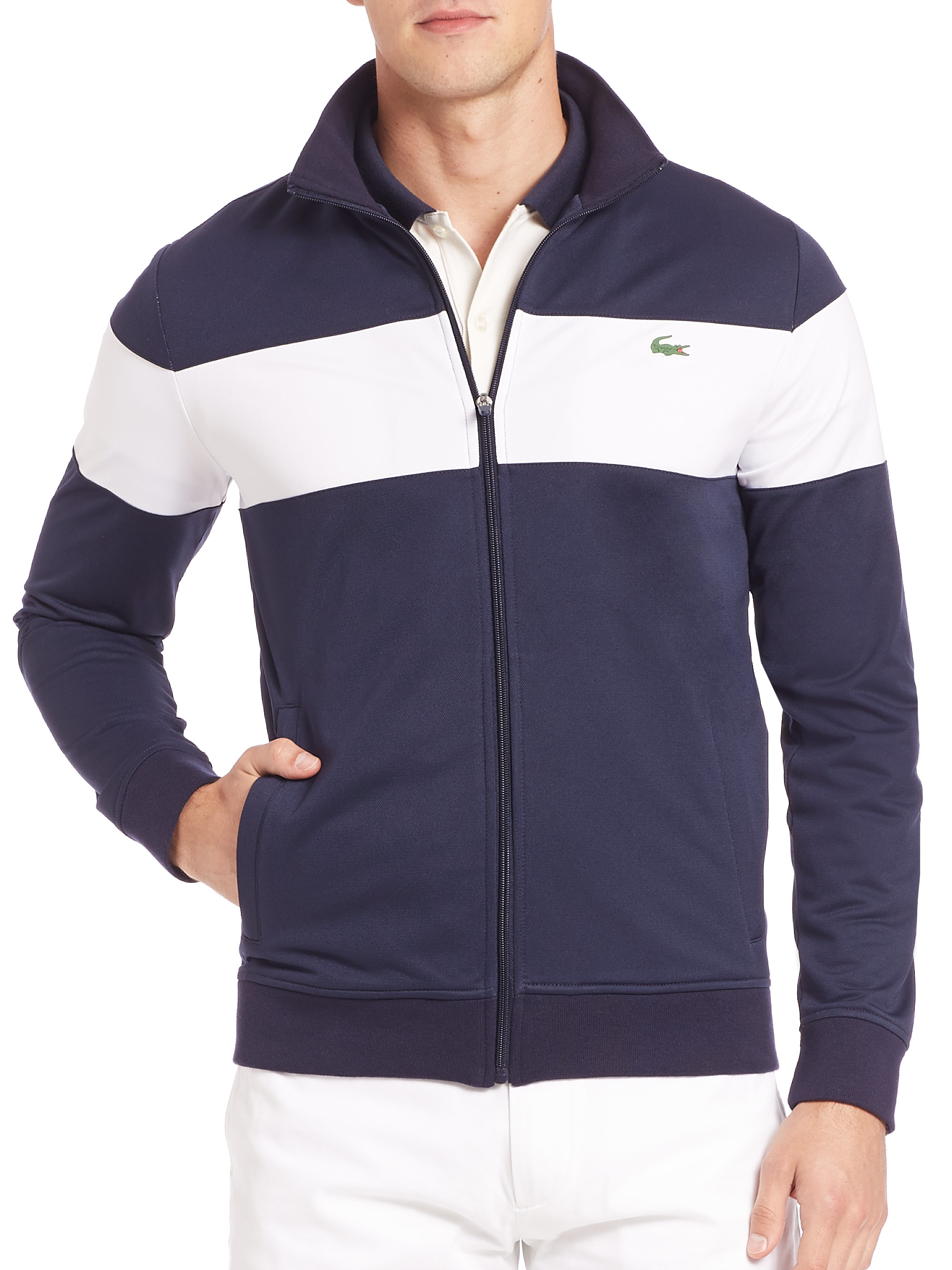 08e085c7 Lacoste Blue Sport Track Jacket for men