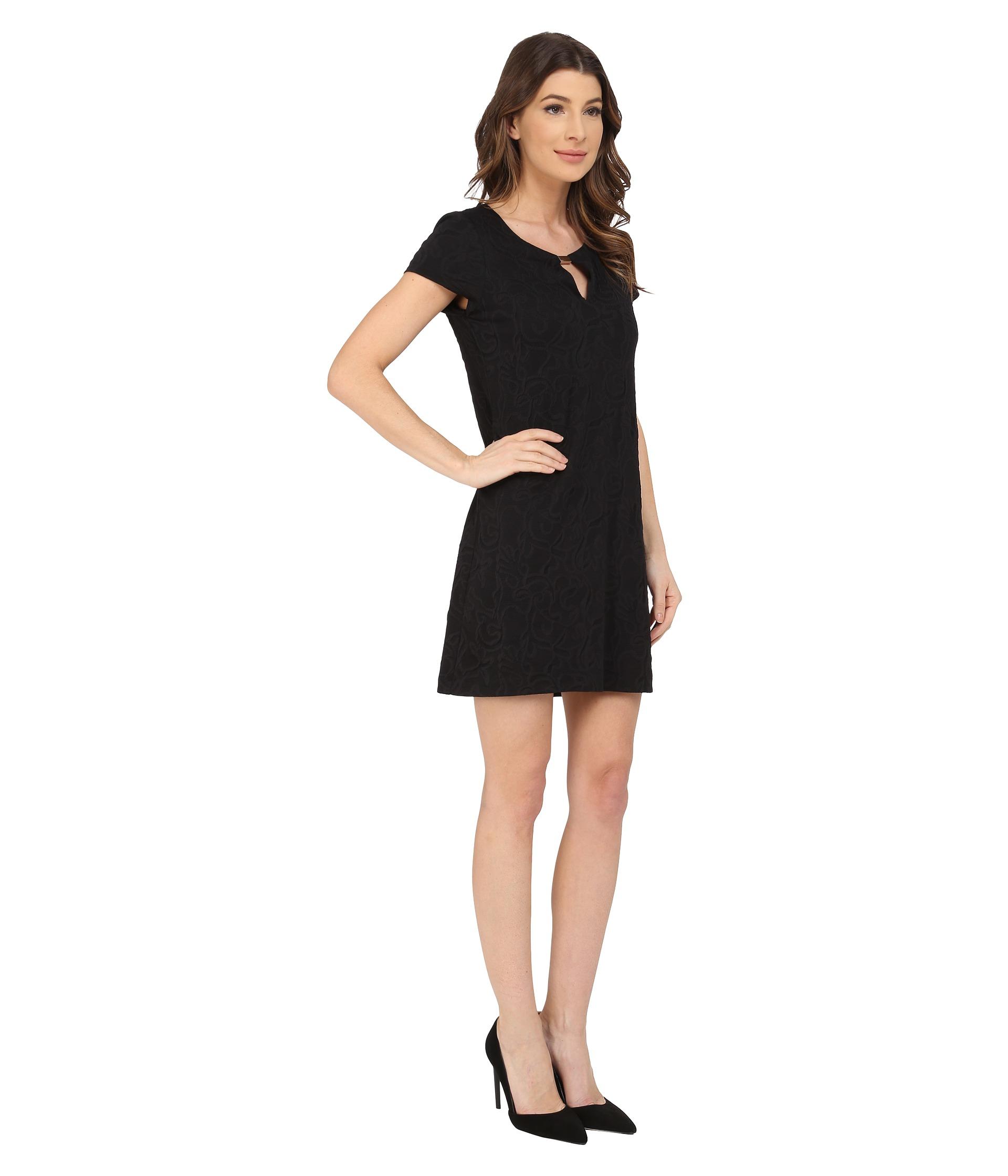 2d6c2fedb6 Black Short Sleeve Shift Dress - Data Dynamic AG