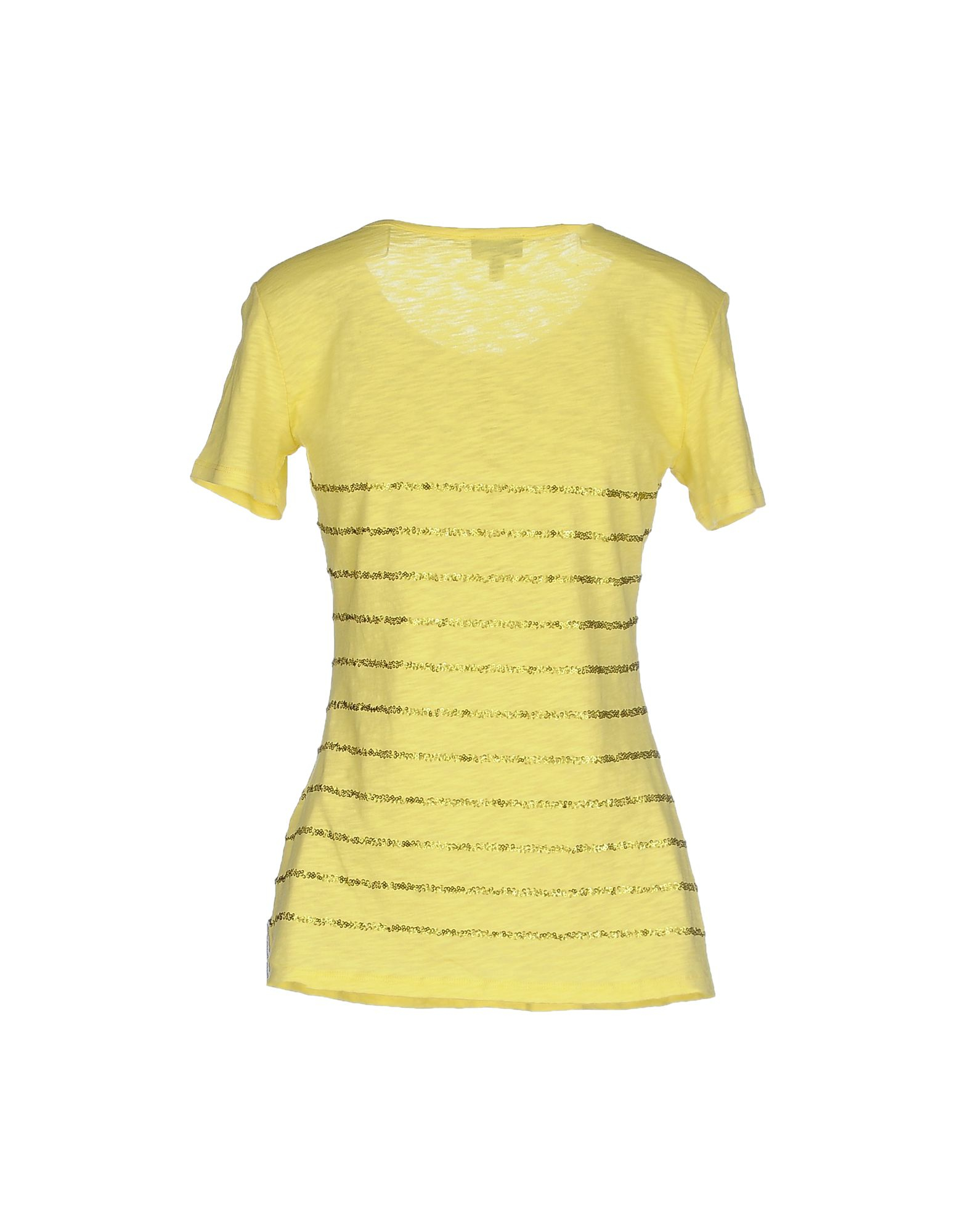 armani jeans t shirt in yellow lyst. Black Bedroom Furniture Sets. Home Design Ideas