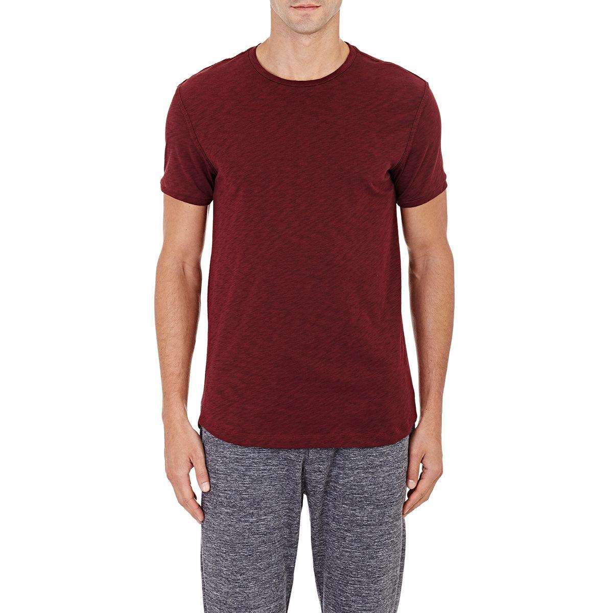 Lyst theory dekker slub t shirt in purple for men for What is a slub shirt