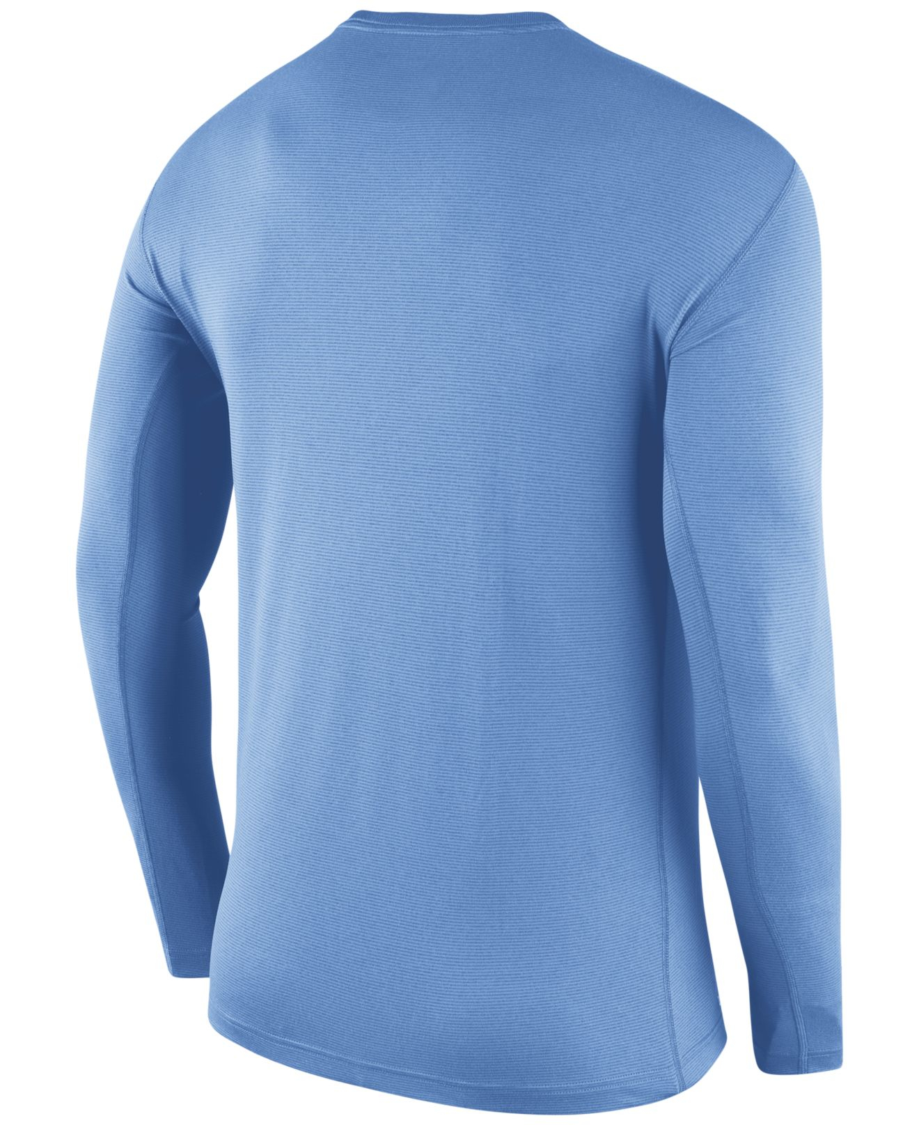 6021ff01 Nike Men's Long-sleeve North Carolina Tar Heels Stadium Dri-fit ...