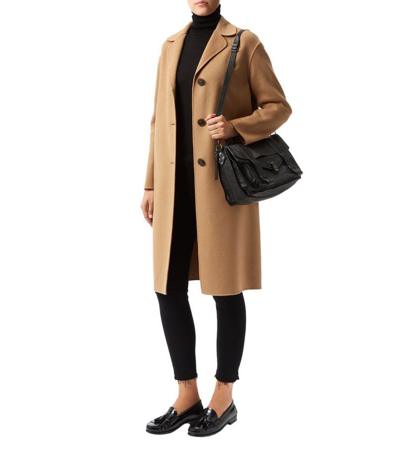 Brown Boyfriend Coat | Down Coat