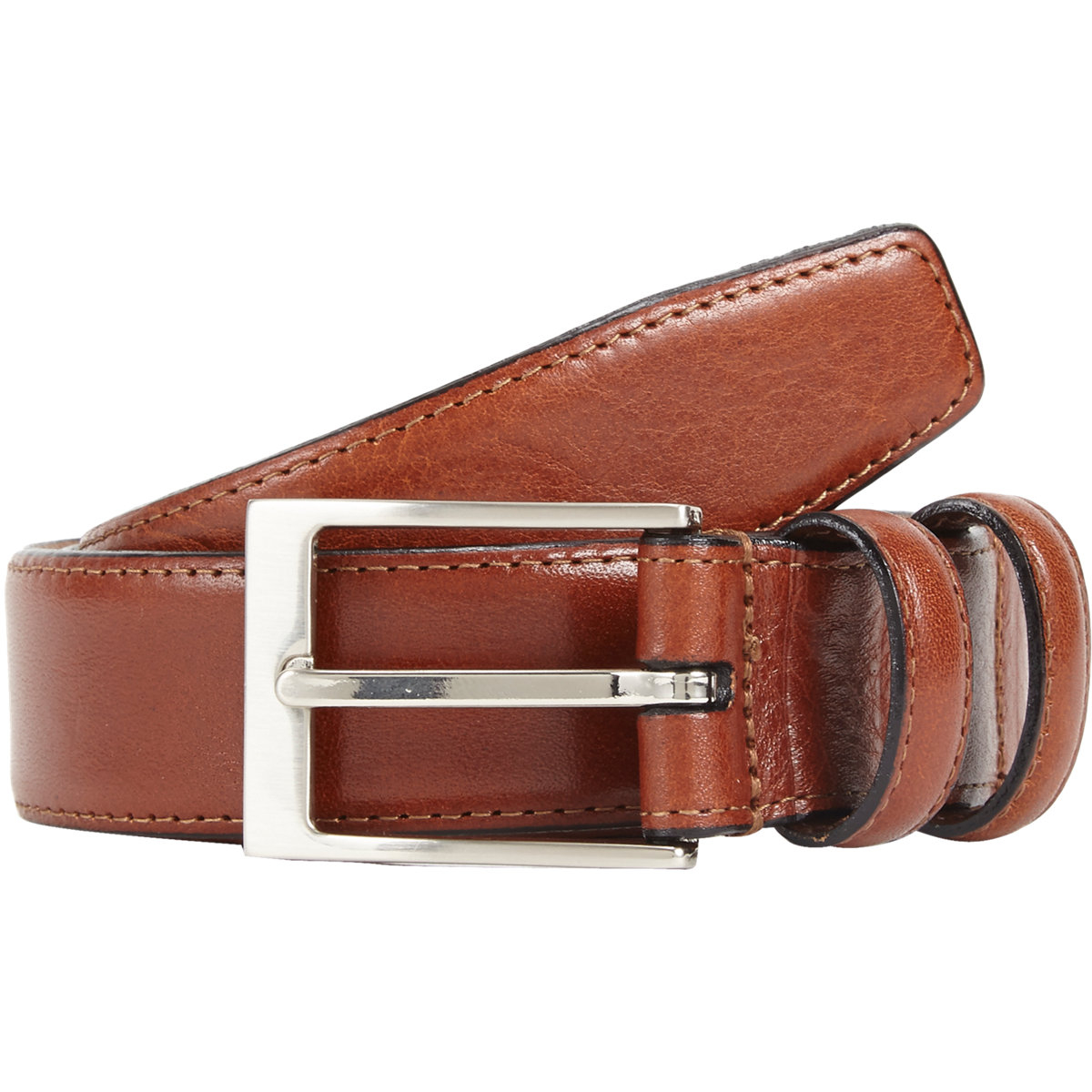 barneys new york leather belt in for lyst