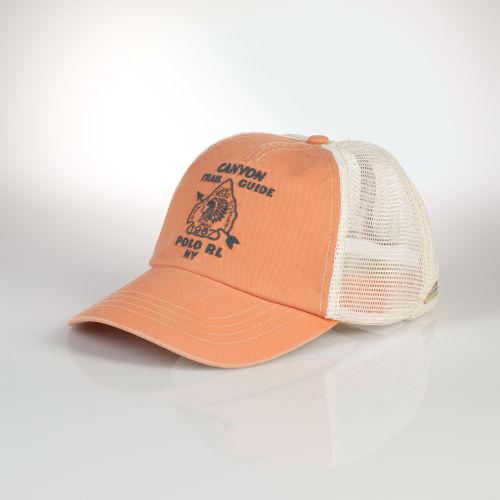 Lyst - Polo Ralph Lauren Southwestern Mesh Trucker Cap in Natural ... 915c8fef739