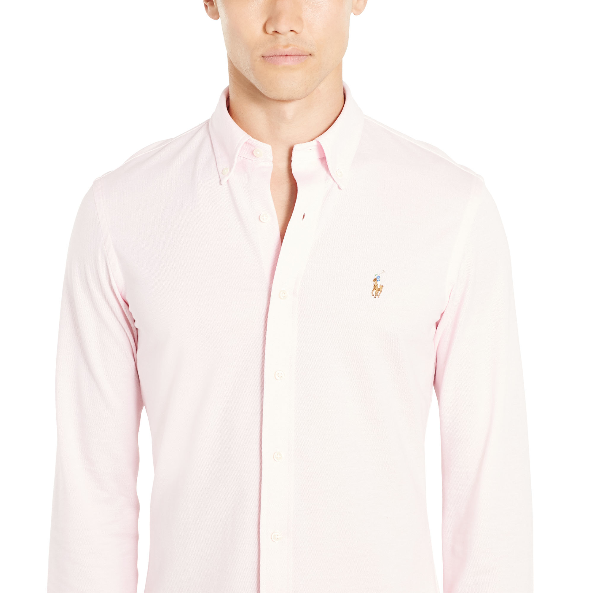 a800784f Polo Ralph Lauren Slim-fit Knit Oxford in Natural for Men - Lyst