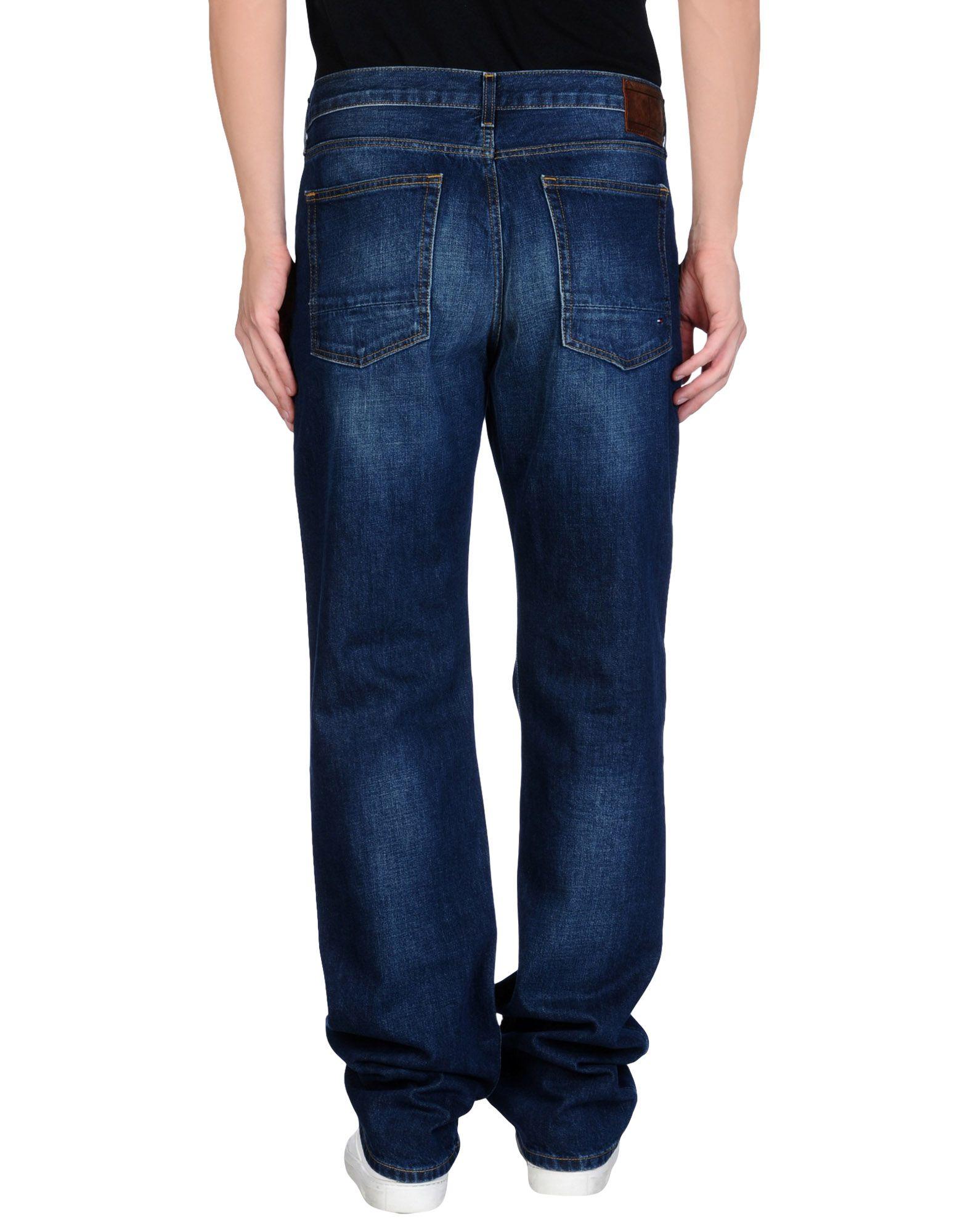 Lyst - Tommy Hilfiger Denim Trousers in Blue for Men