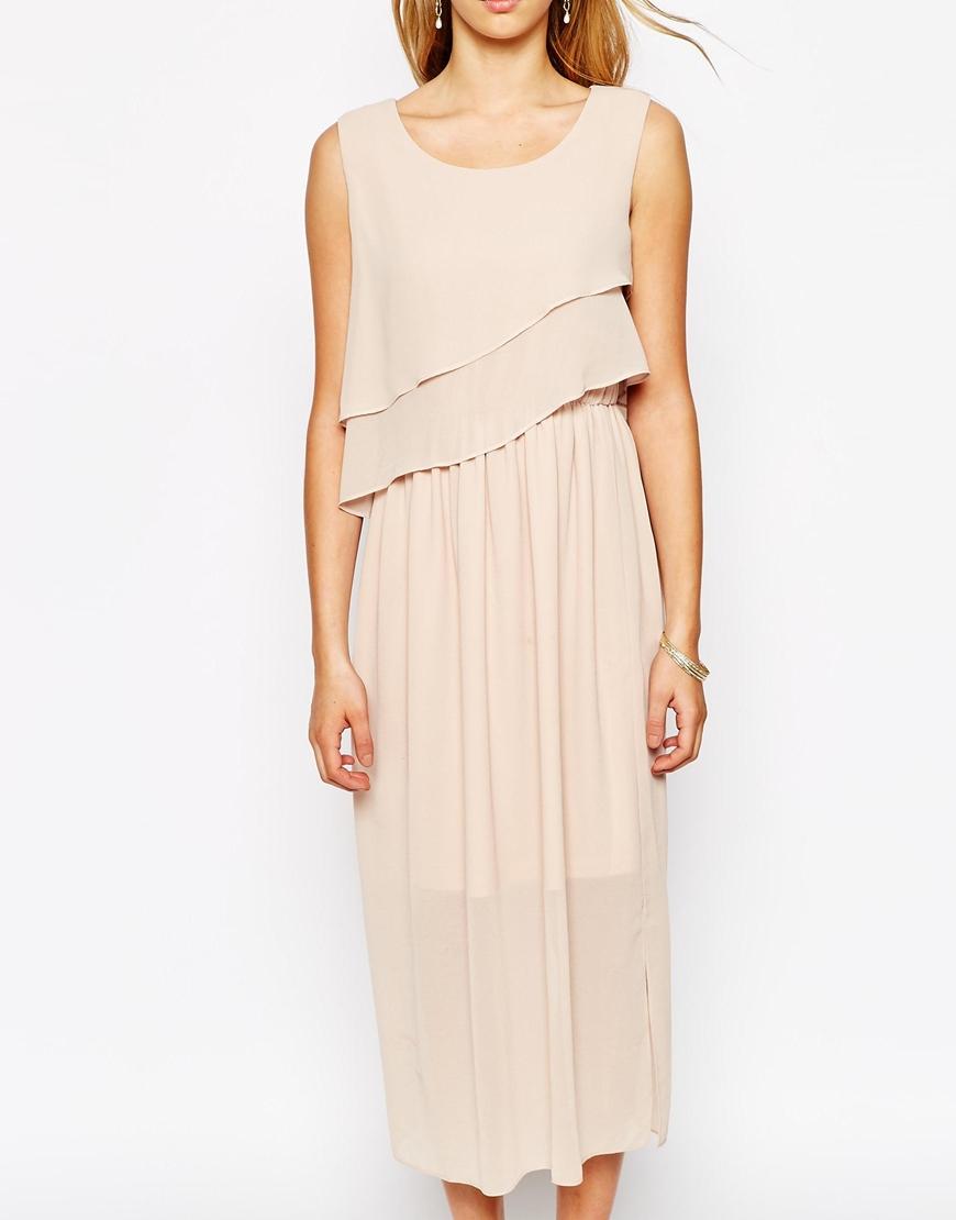 Darccy frill layered maxi dress