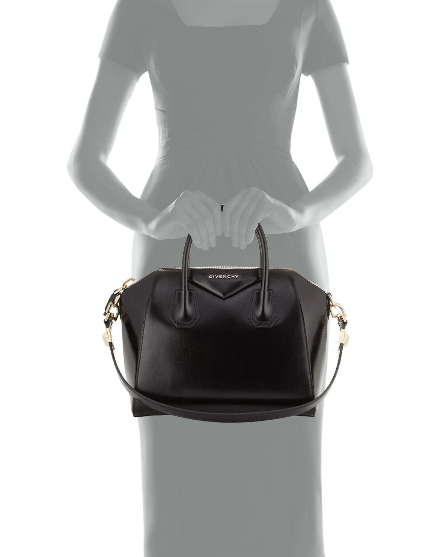 Lyst - Givenchy Antigona Small Leather Satchel Bag in Black 4a579946ddaf1