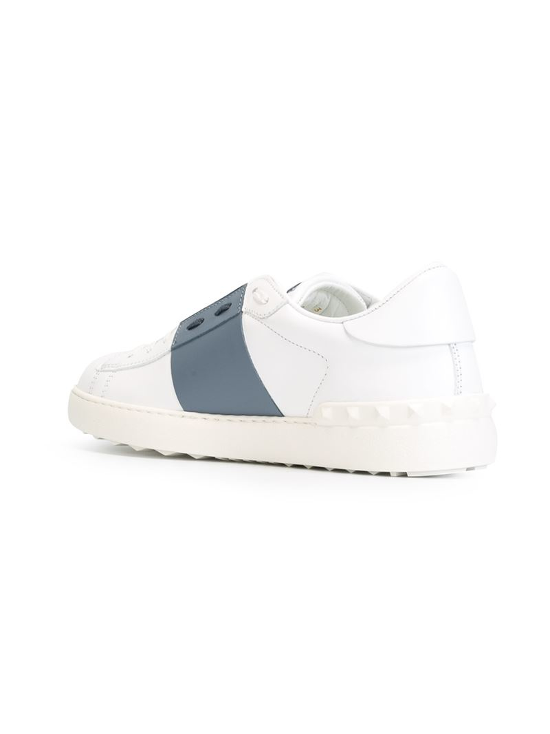 Lyst Valentino Open Sneakers In Blue For Men