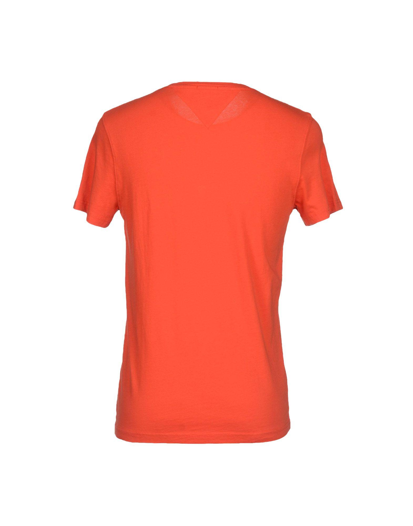 tommy hilfiger denim t shirt in orange for men lyst. Black Bedroom Furniture Sets. Home Design Ideas