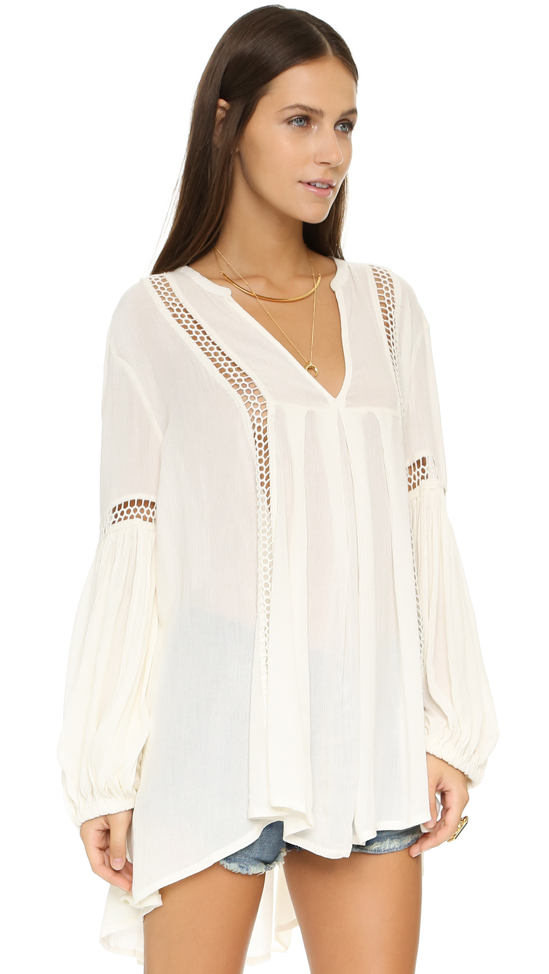 Free People Just The Two Of Us Tunic In White