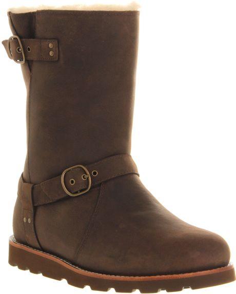 5fdc5e69019 Ugg Australia Noira Buckle Calf Boots Brown