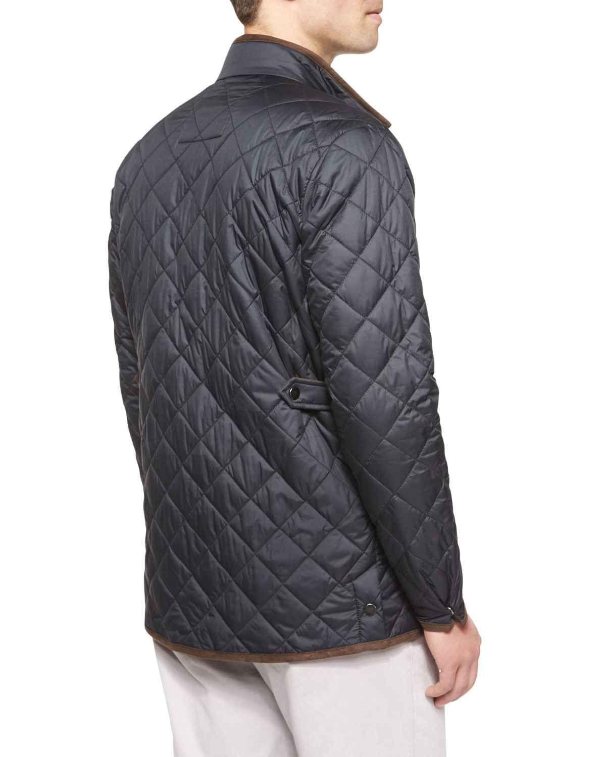Peter millar Chesapeake Lightweight Quilted Jacket in Gray for Men ...