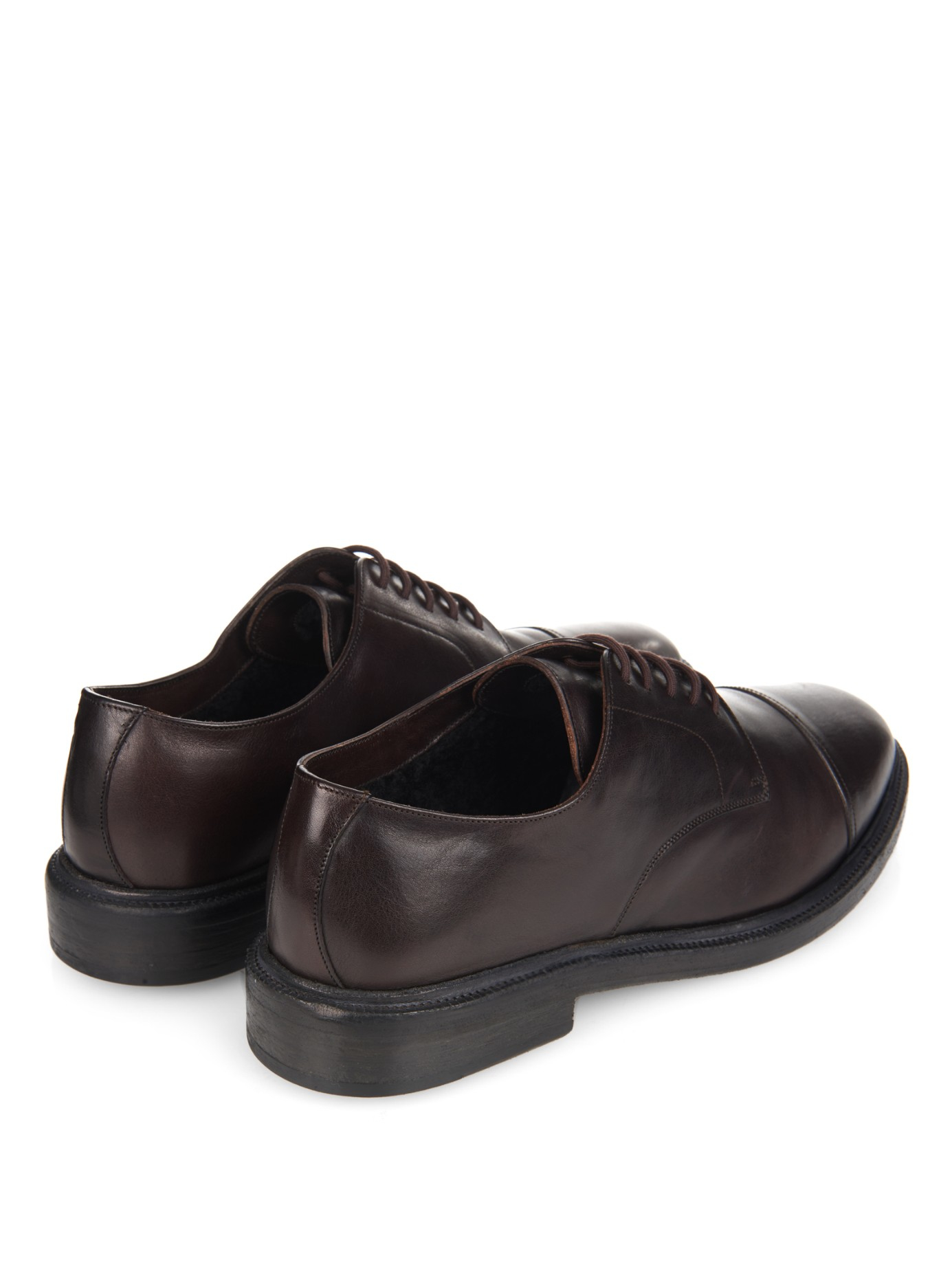 burberry prorsum redworths leather derby shoes in black