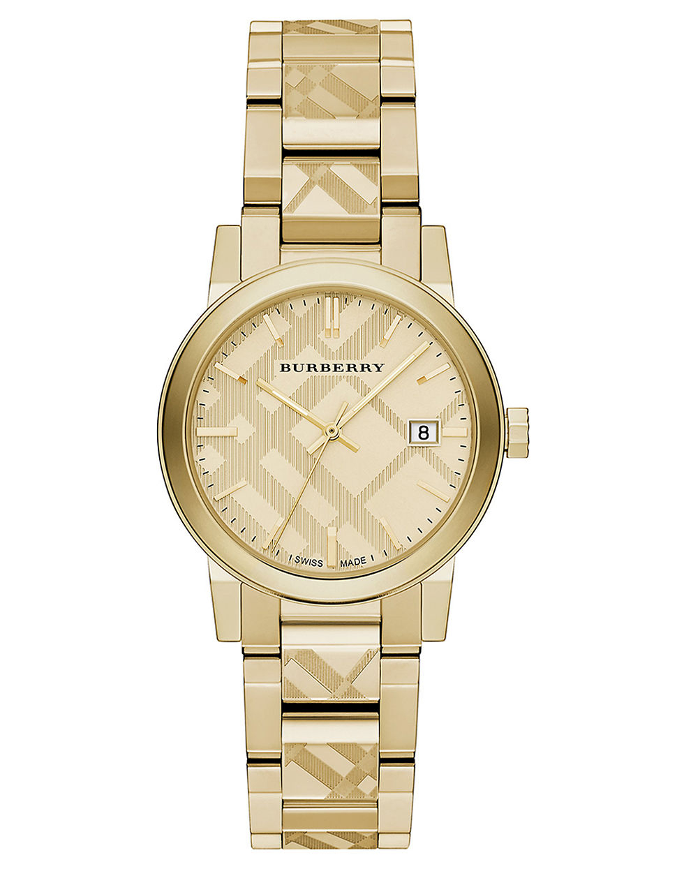 Burberry Ladies The City Goldtone Bracelet Watch In