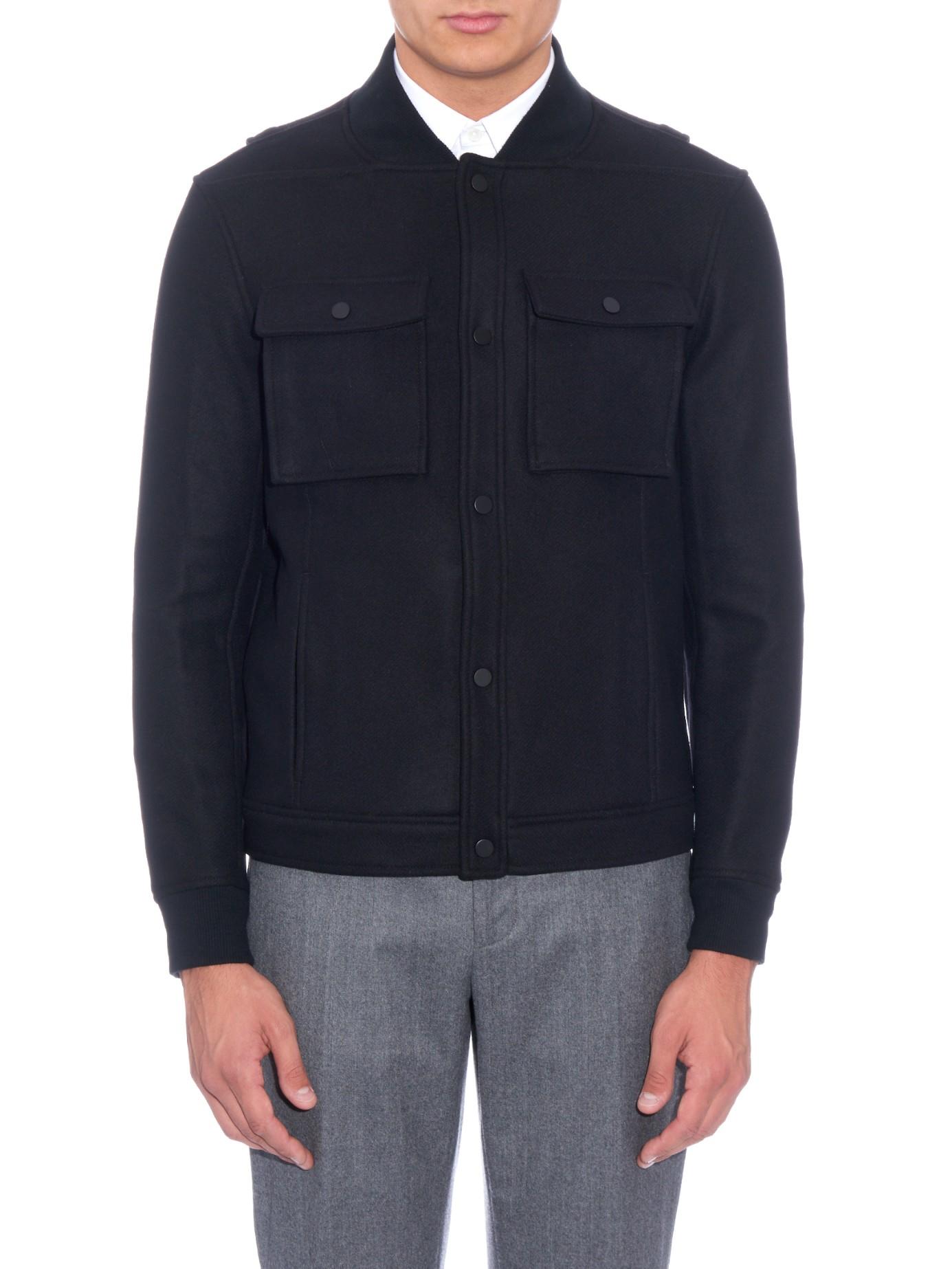 Public School Wool-blend Bomber Jacket in Black for Men