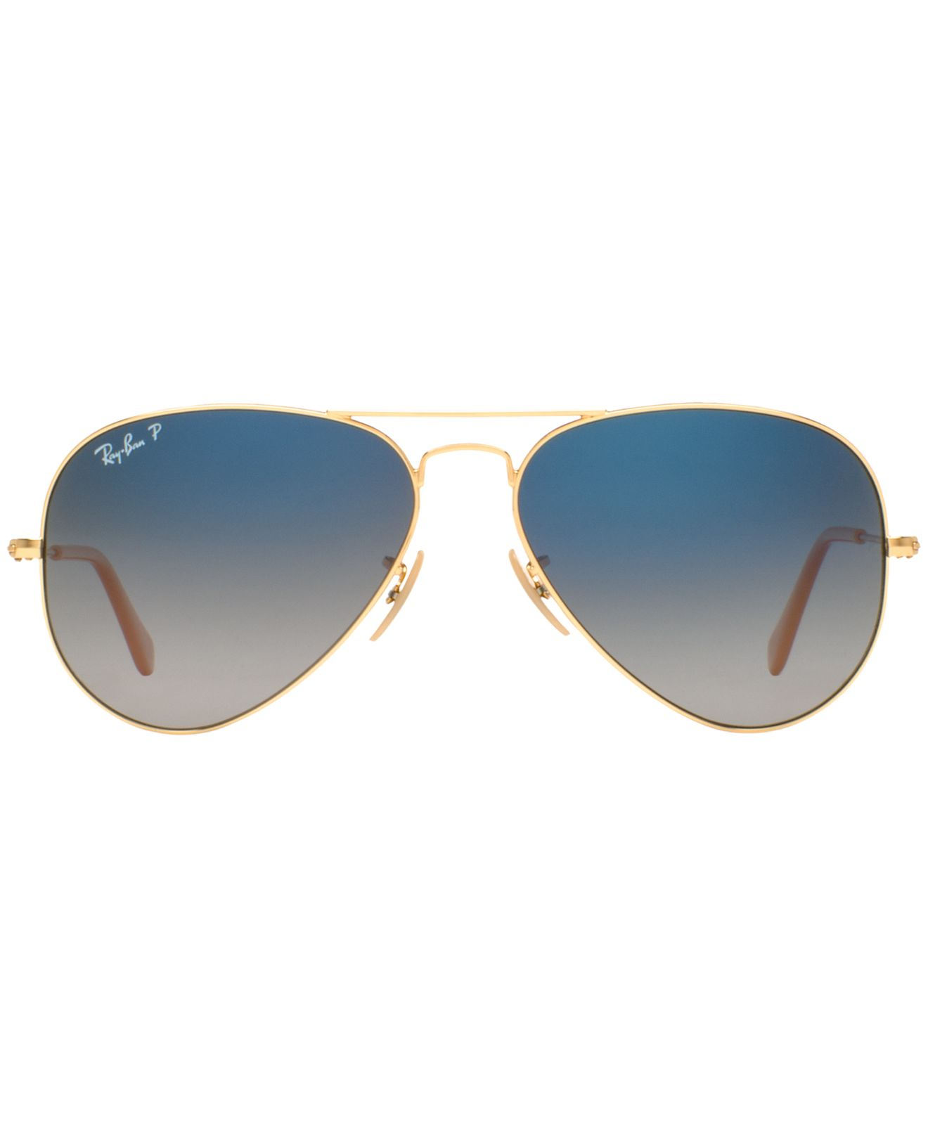 ray ban blue gradient gold