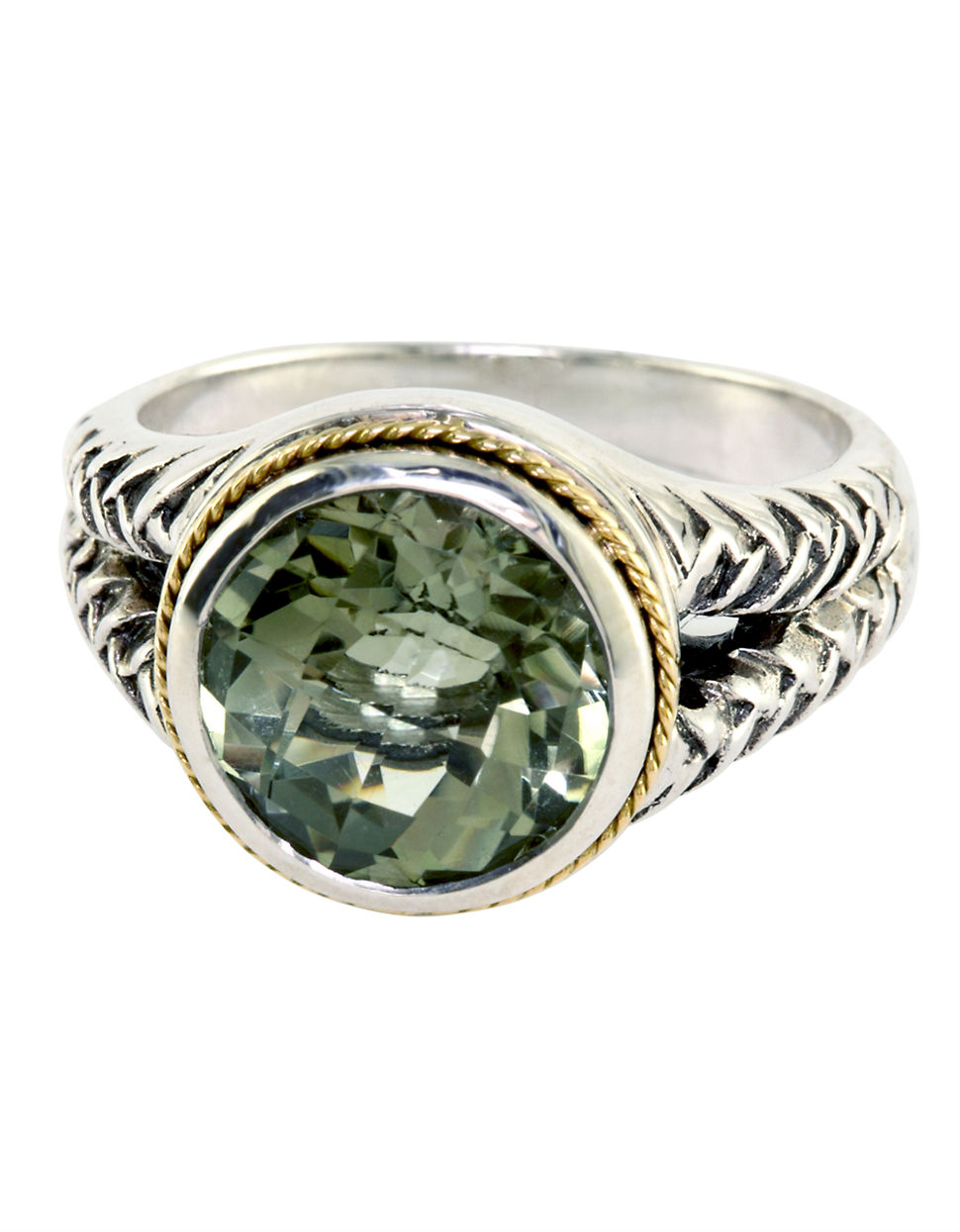 Effy Balissima Sterling Silver And 18kt Yellow Gold Green