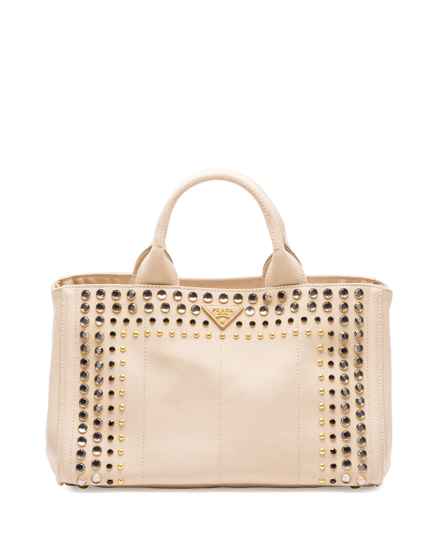 prada handbags outlet online - prada logo-embellished canapa shoulder bag, authentic prada ...