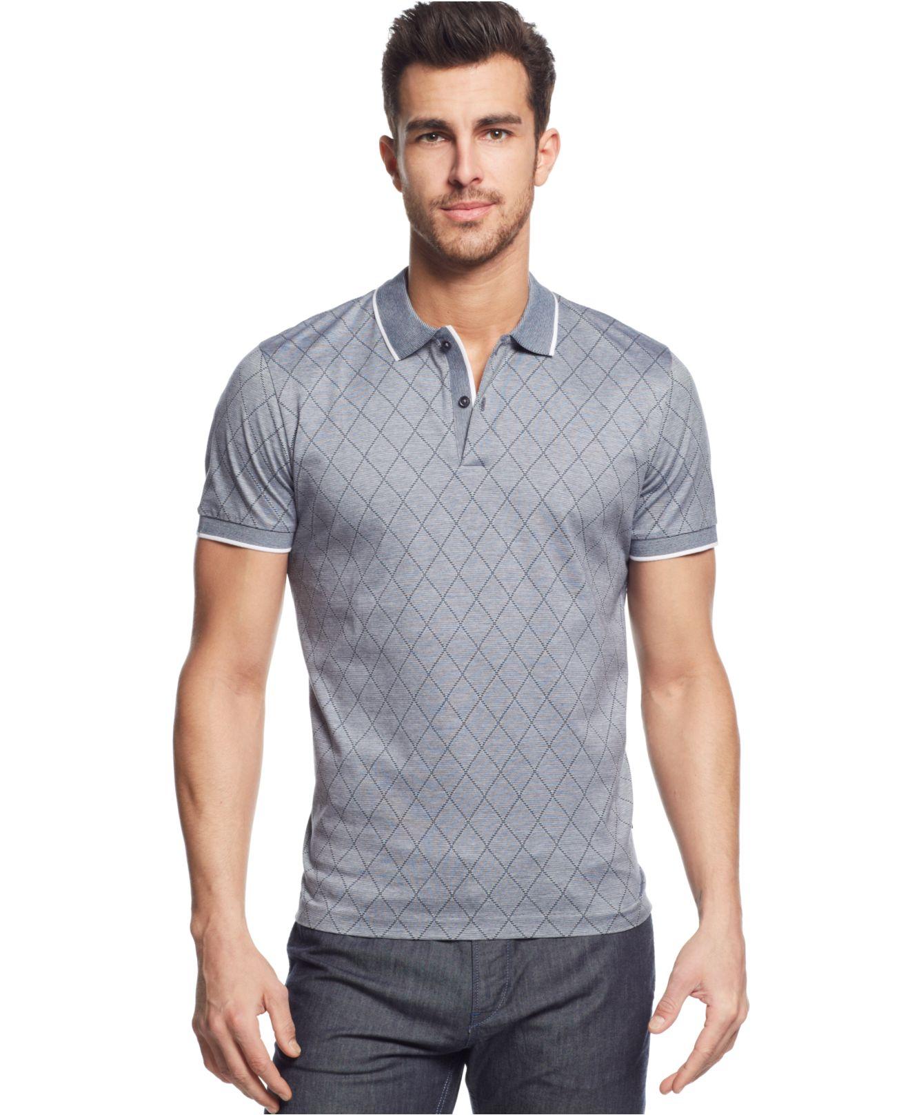 Boss boss ateleta slim fit polo shirt in blue for men lyst for Hugo boss slim dress shirt