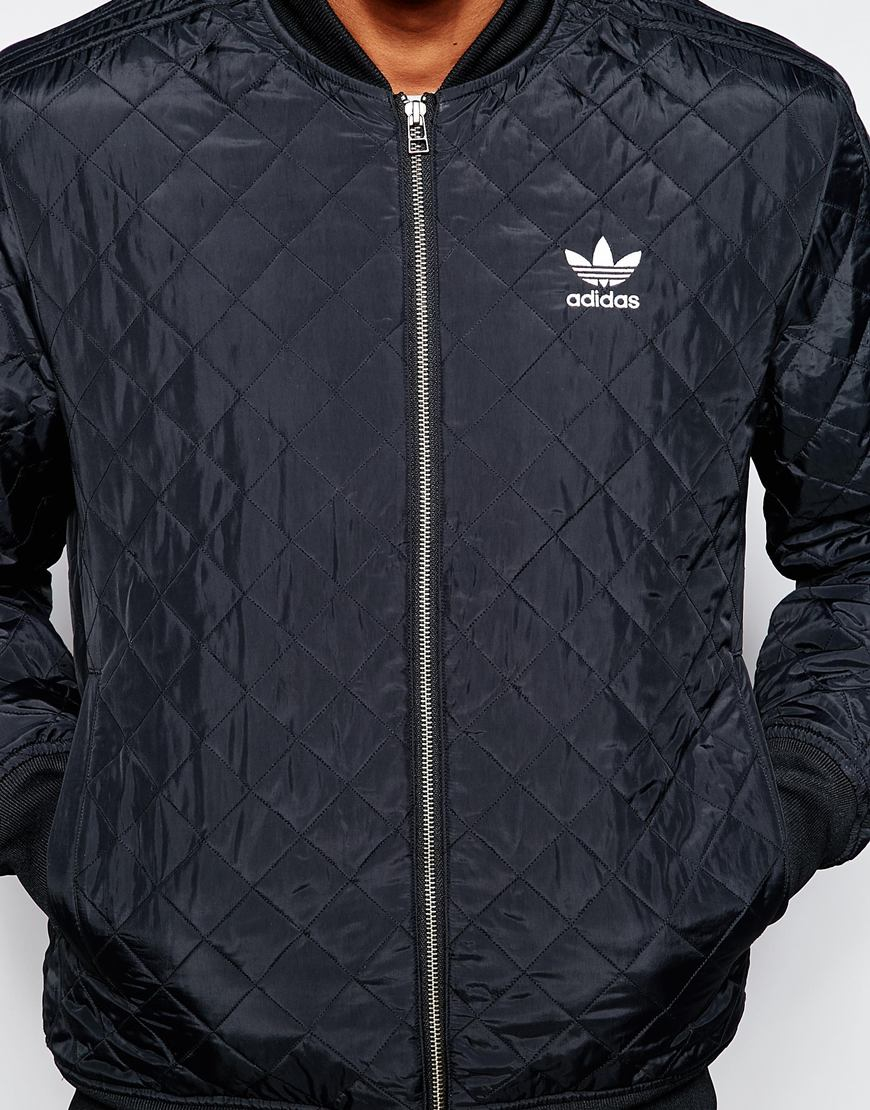 Lyst Adidas Originals Quilted Jacket Ab7862 In Black For Men