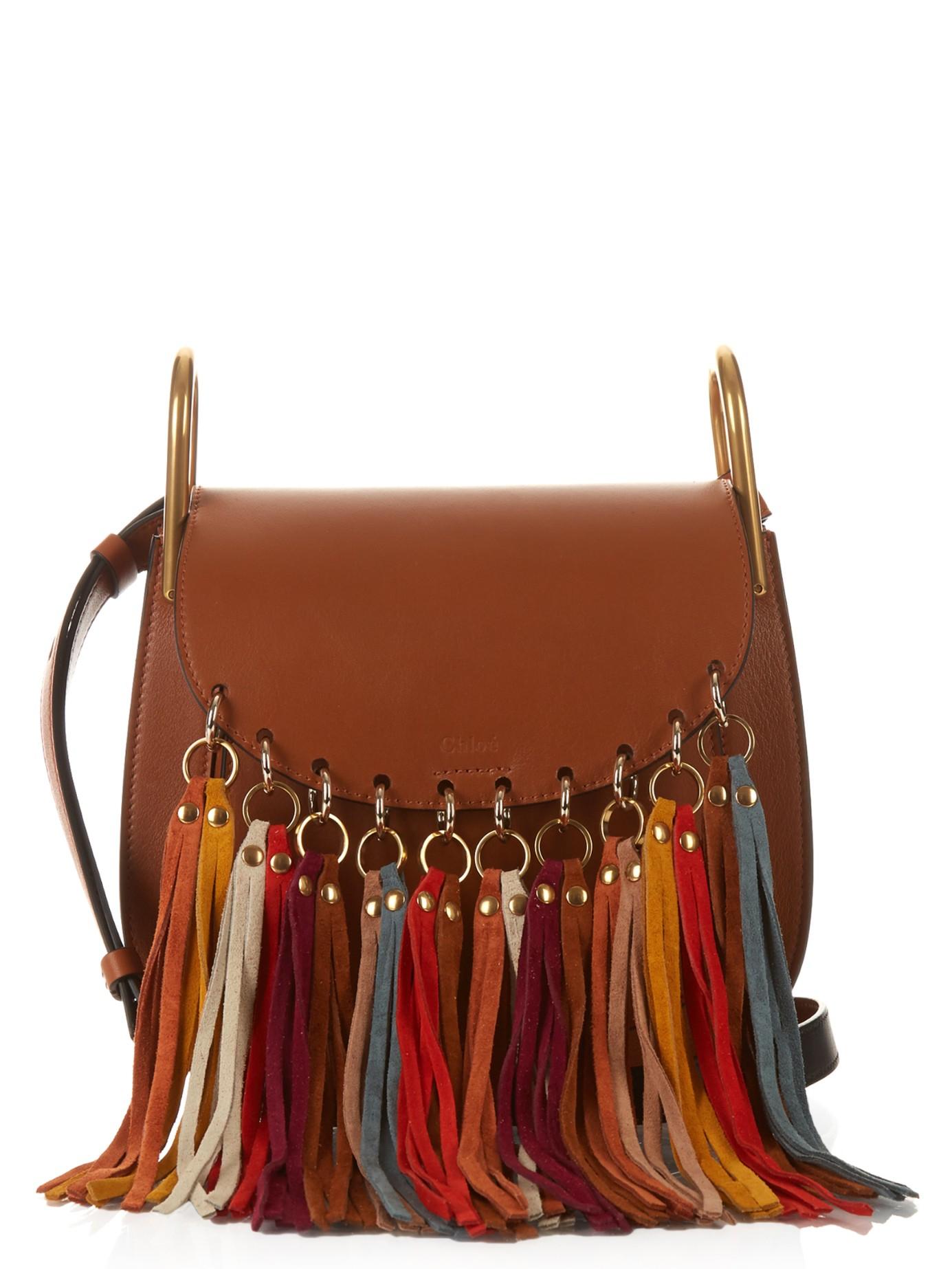 chleo handbags - chloe hudson suede tassel leather cross-body bag, chloe replica ...