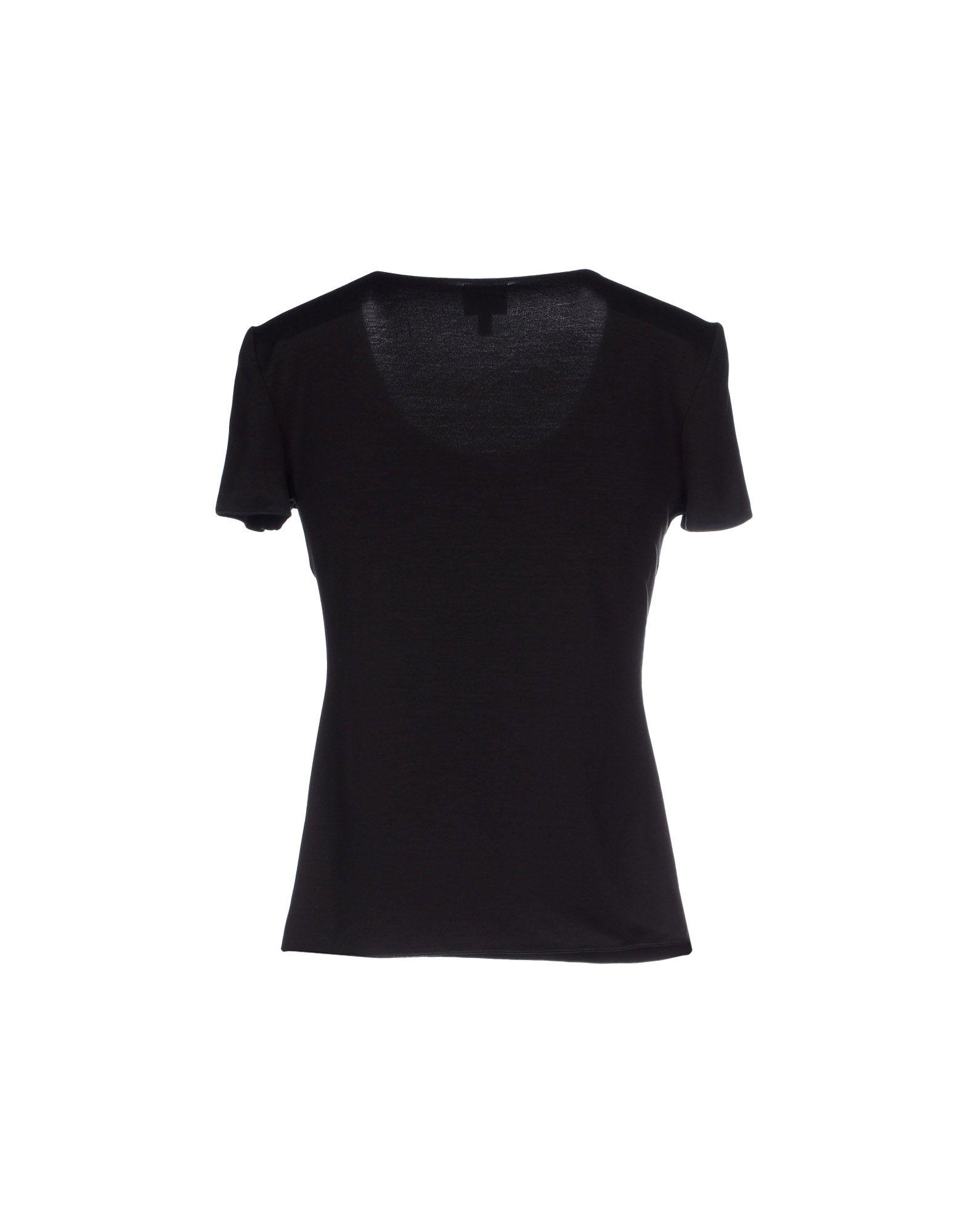 Armani t shirt in black lyst for Black armani t shirt