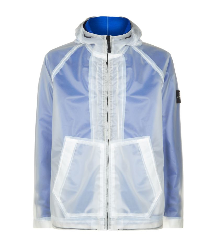 stone island poly cover sweater jacket in blue for men lyst. Black Bedroom Furniture Sets. Home Design Ideas