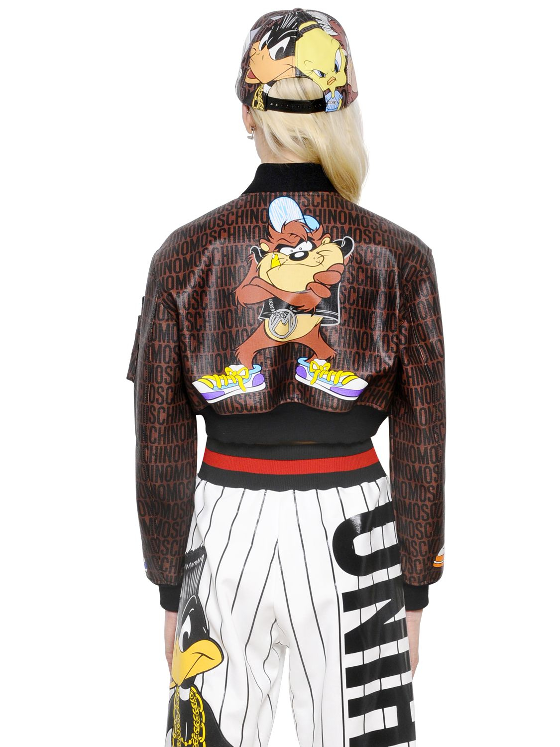 Moschino Looney Tunes Printed Bomber Jacket Lyst