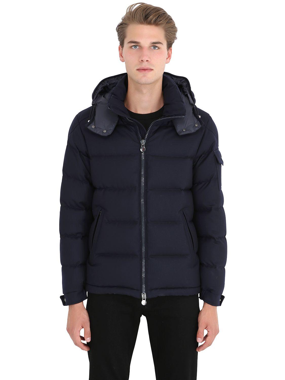 Moncler Montgenevre Light Flannel Down Jacket in Black (NAVY) | Lyst