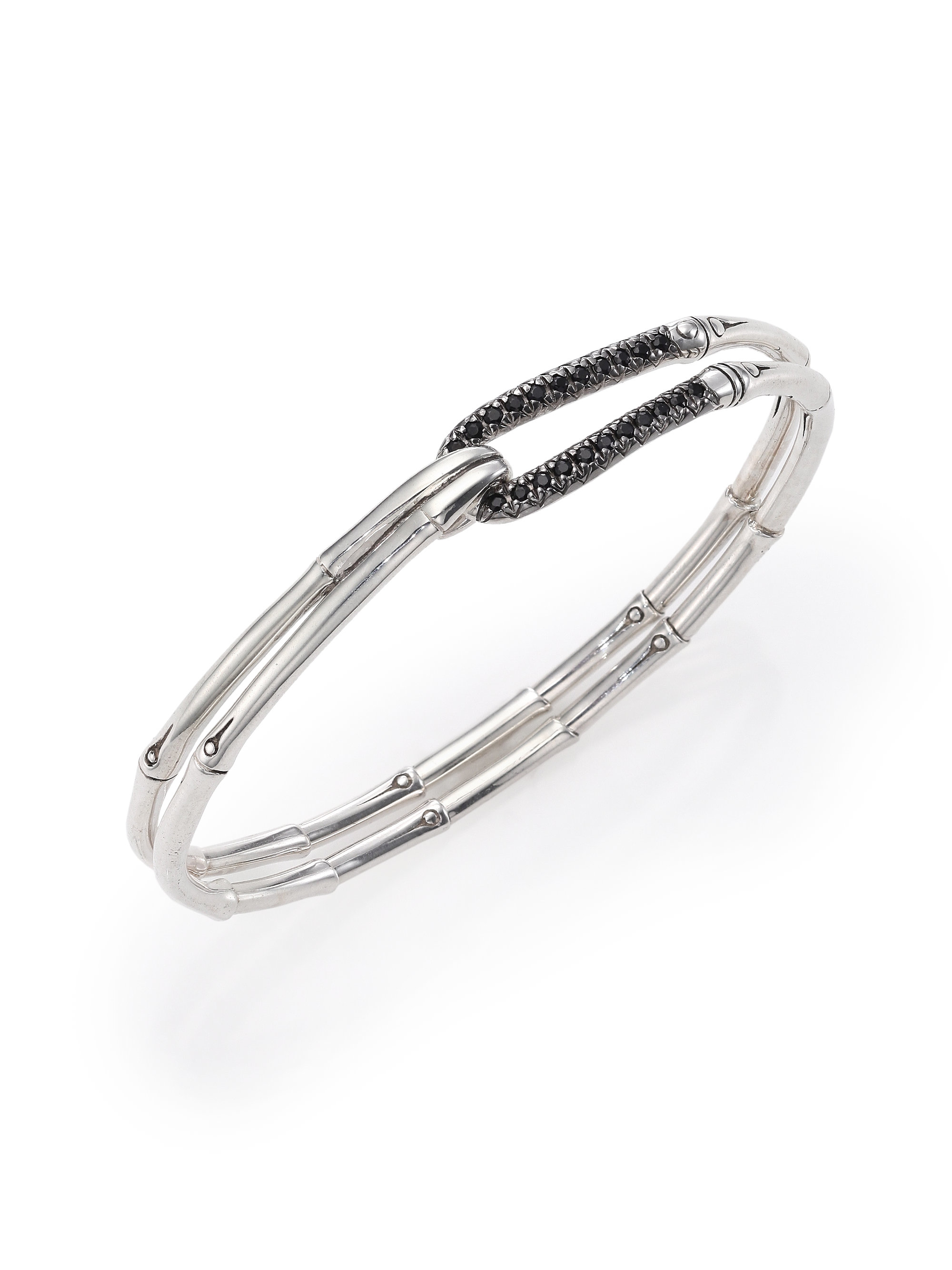 John Hardy Bamboo Sapphire Amp Sterling Silver Hook Bangle