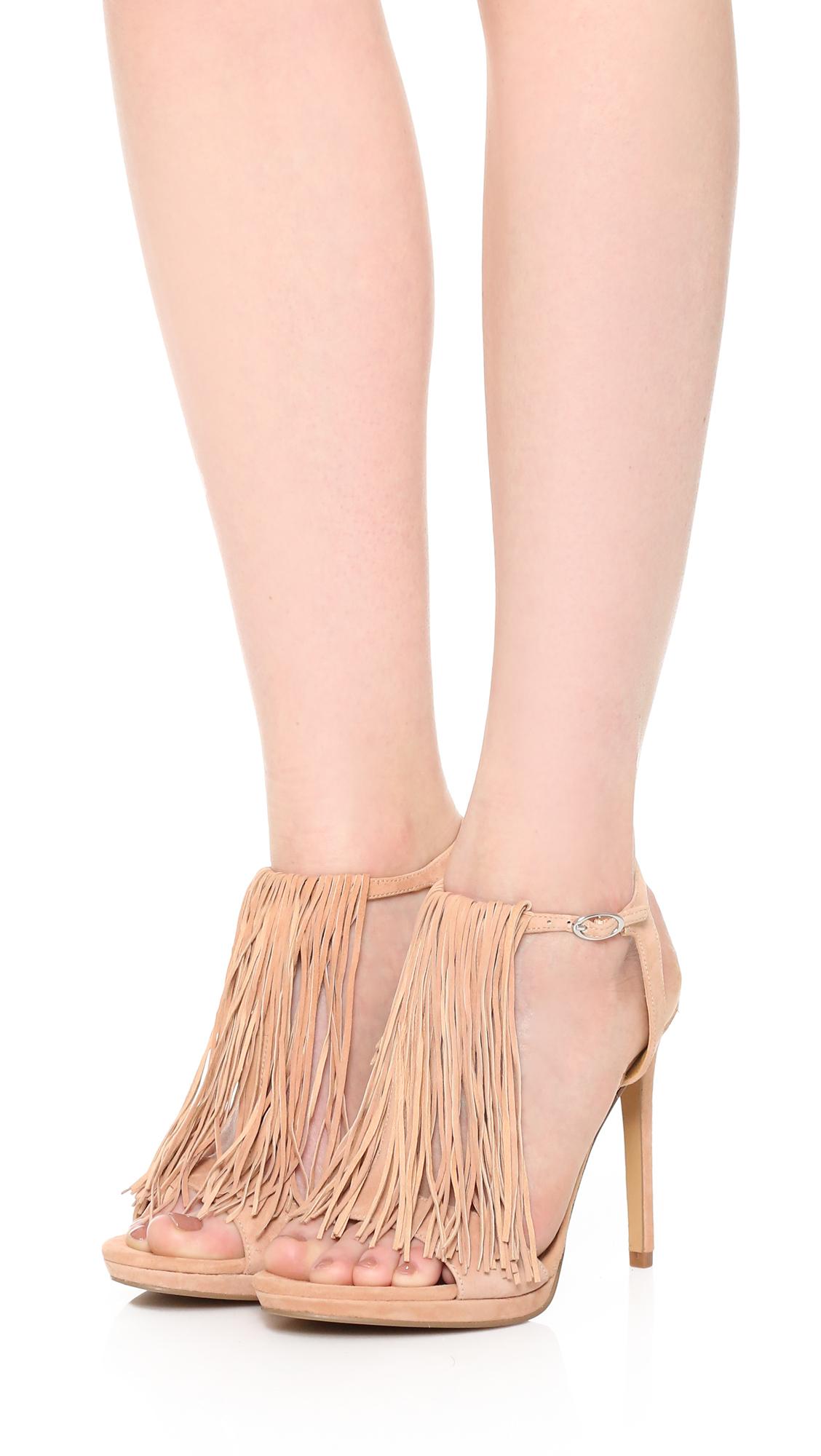 74952b4082f Kendall + Kylie Pink Aries Fringe Sandals