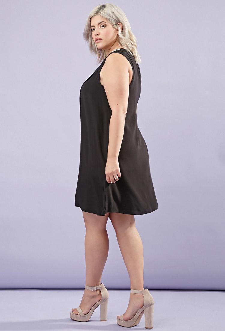 Lyst Forever 21 Plus Size Rhinestone Sheath Dress In Black
