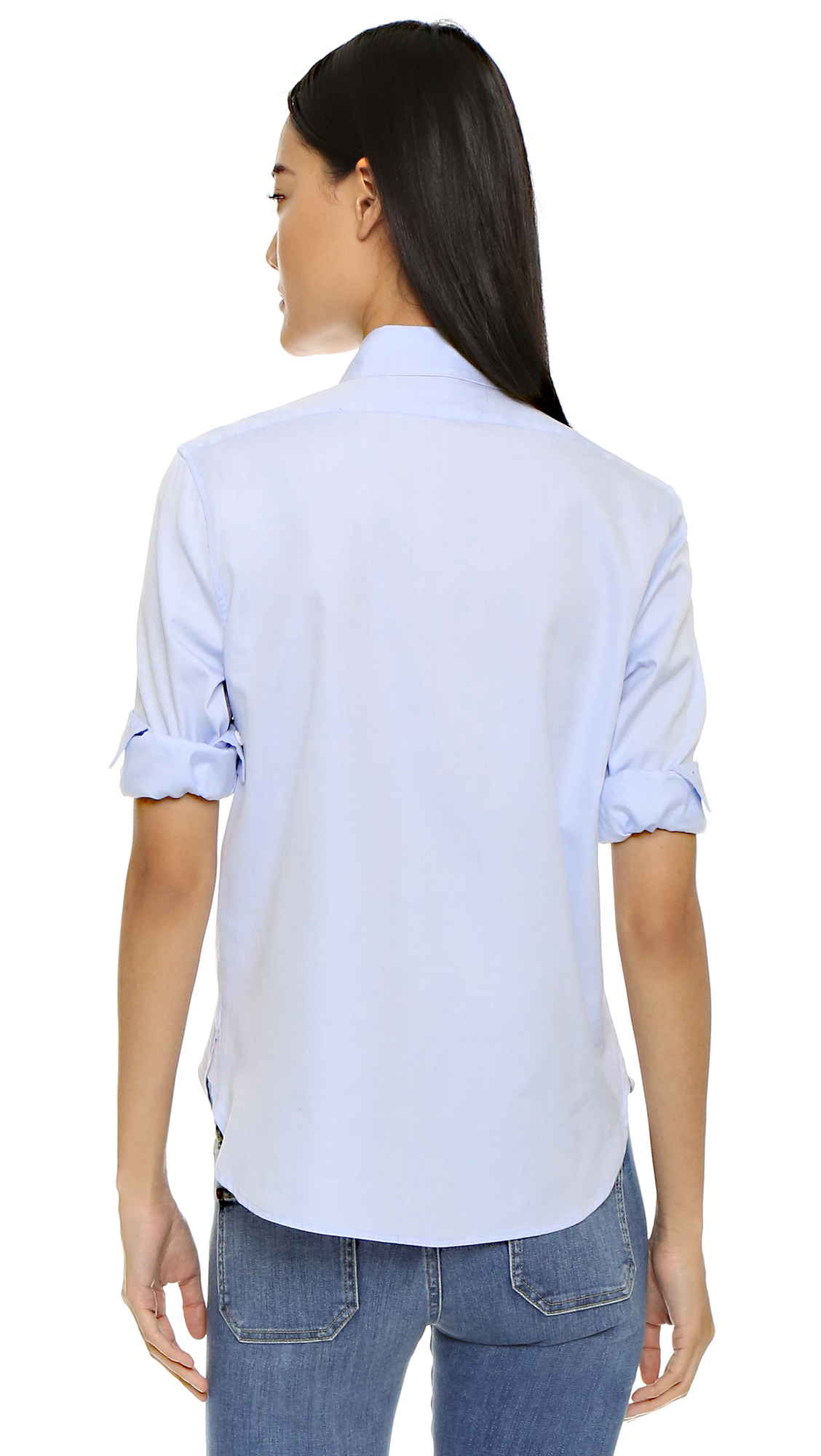 Lyst - Equipment Leema Button Down Shirt in Blue