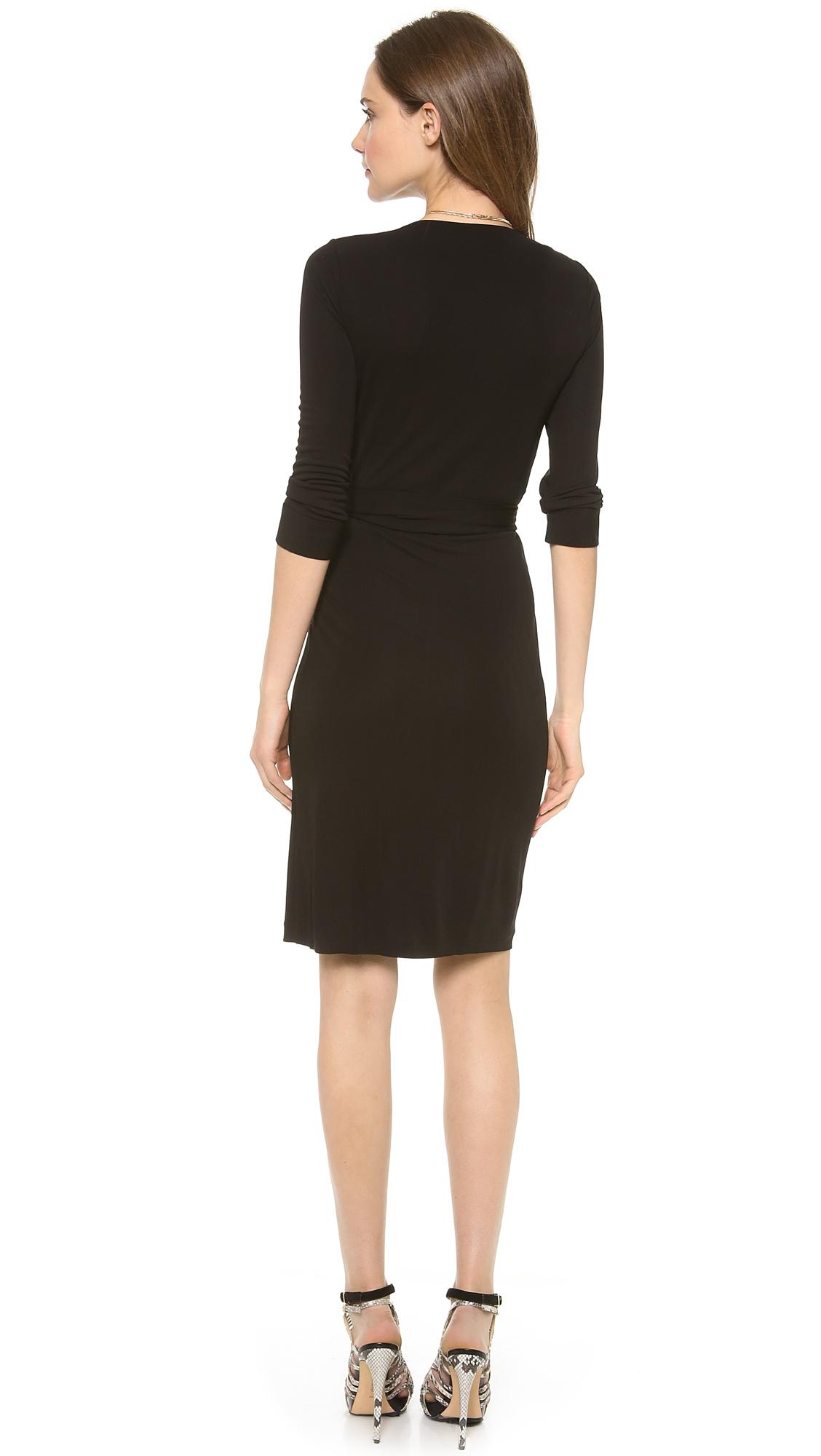 Diane Von Furstenberg New Julian Two Wrap Dress In Black