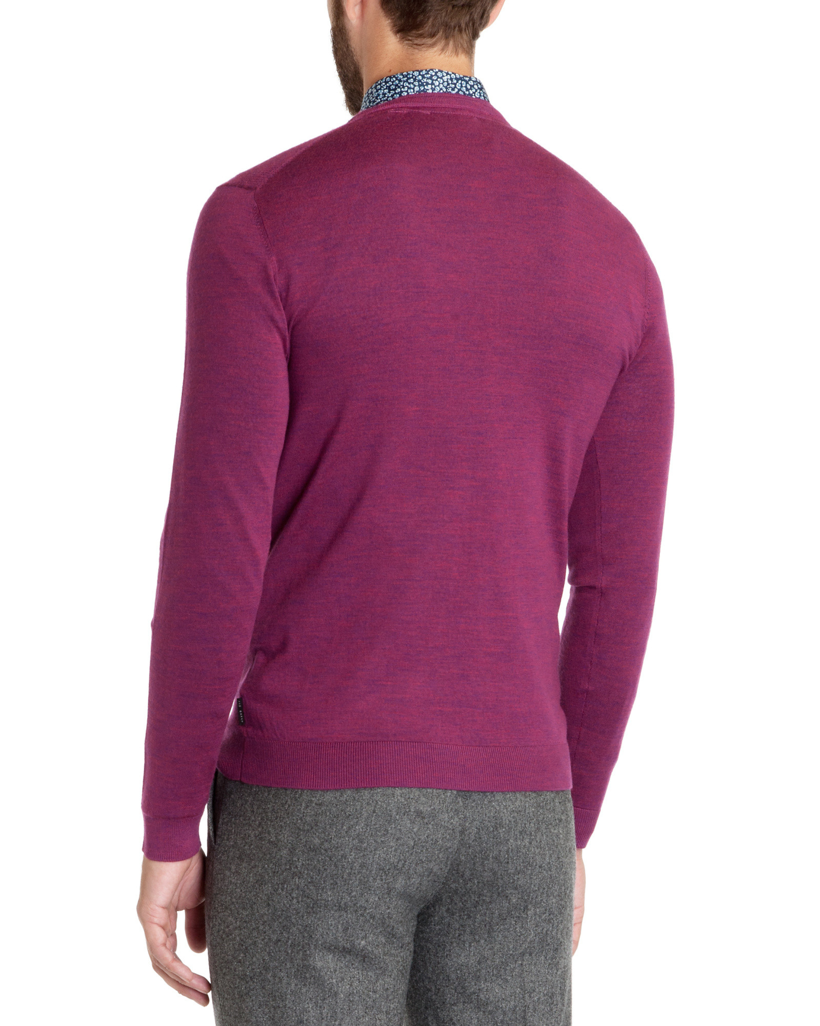 Ted baker Merino Wool Sweater in Purple for Men | Lyst