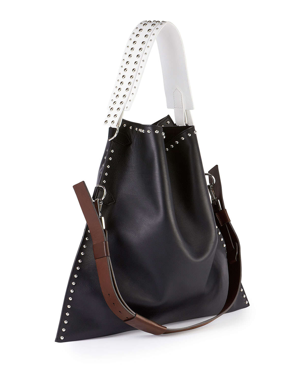 Givenchy Postino Large Flat Foldover Shoulder Bag in Black | Lyst