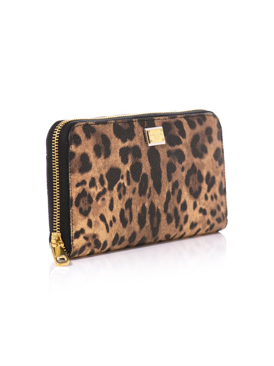 Dolce & Gabbana Leopard printed purse iXjg9o2y